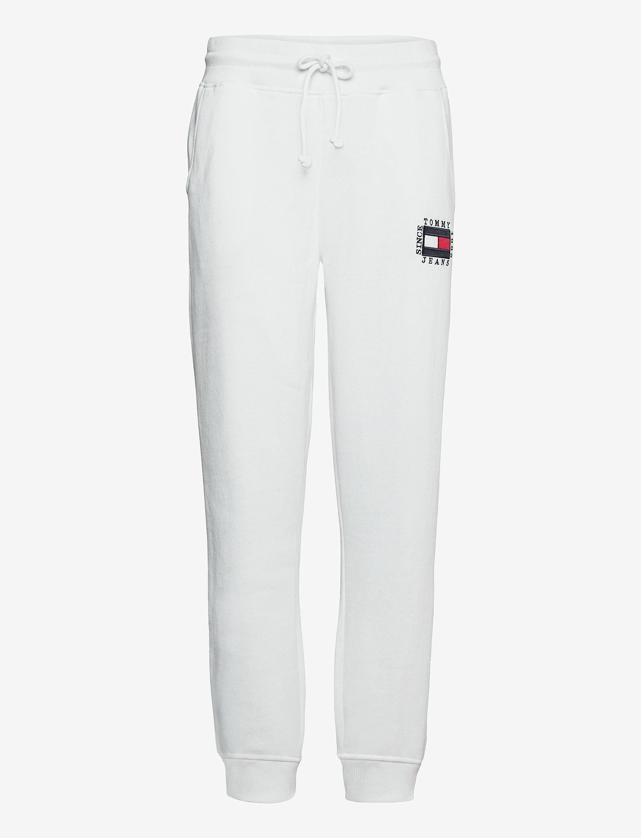 Tommy Jeans - TJW SLIM BOX FLAG SWEAT PANT - sweatpants - white - 0