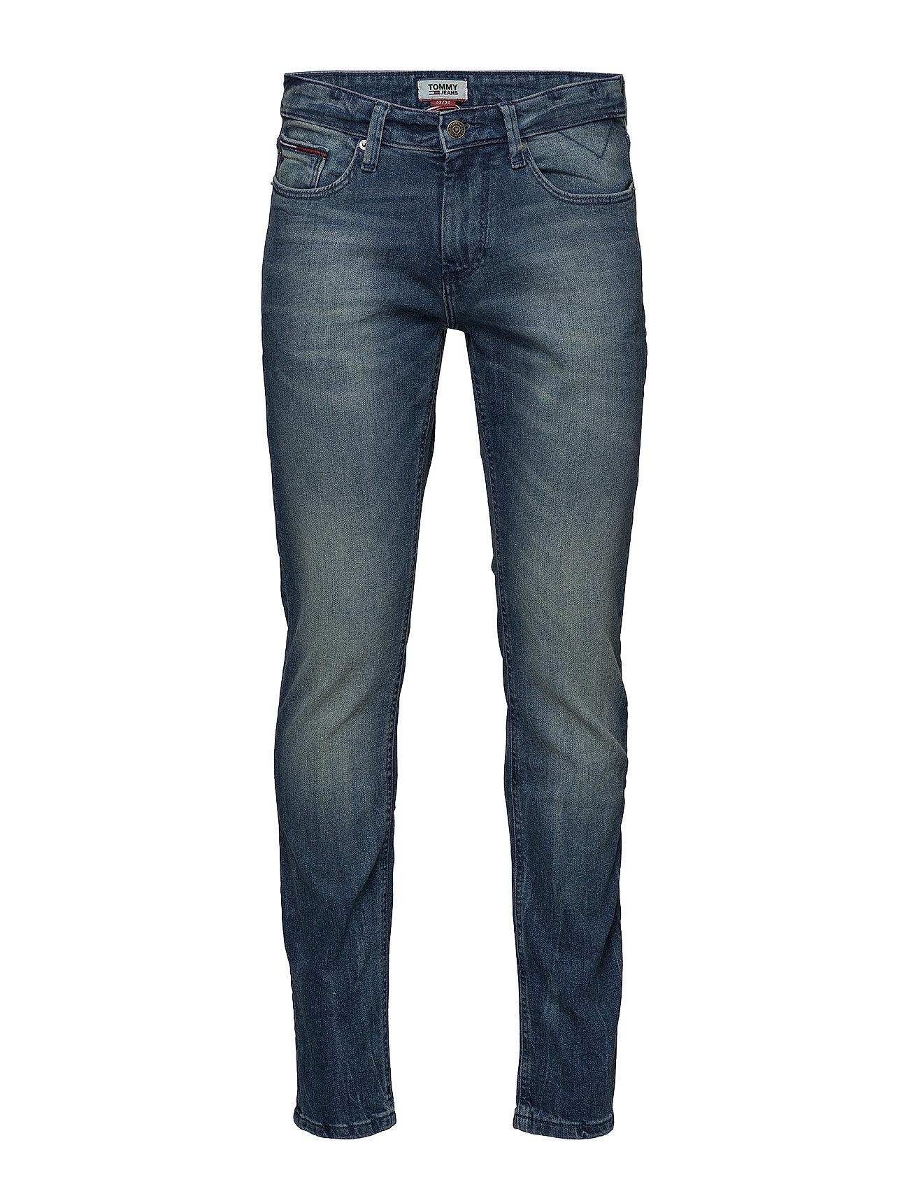 Tommy Jeans SLIM SCANTON BEMB - BERRY MID BLUE COMFORT