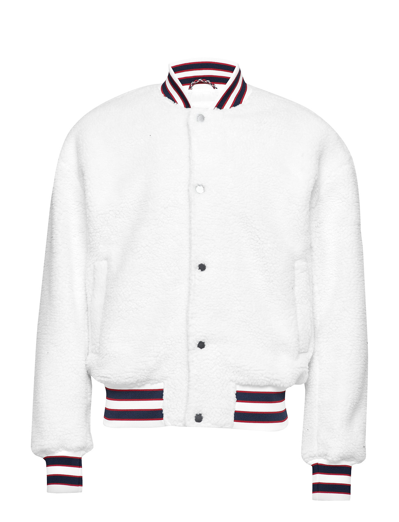 Tommy Jeans TJM TEDDY BOMBER, 10 - CLASSIC WHITE