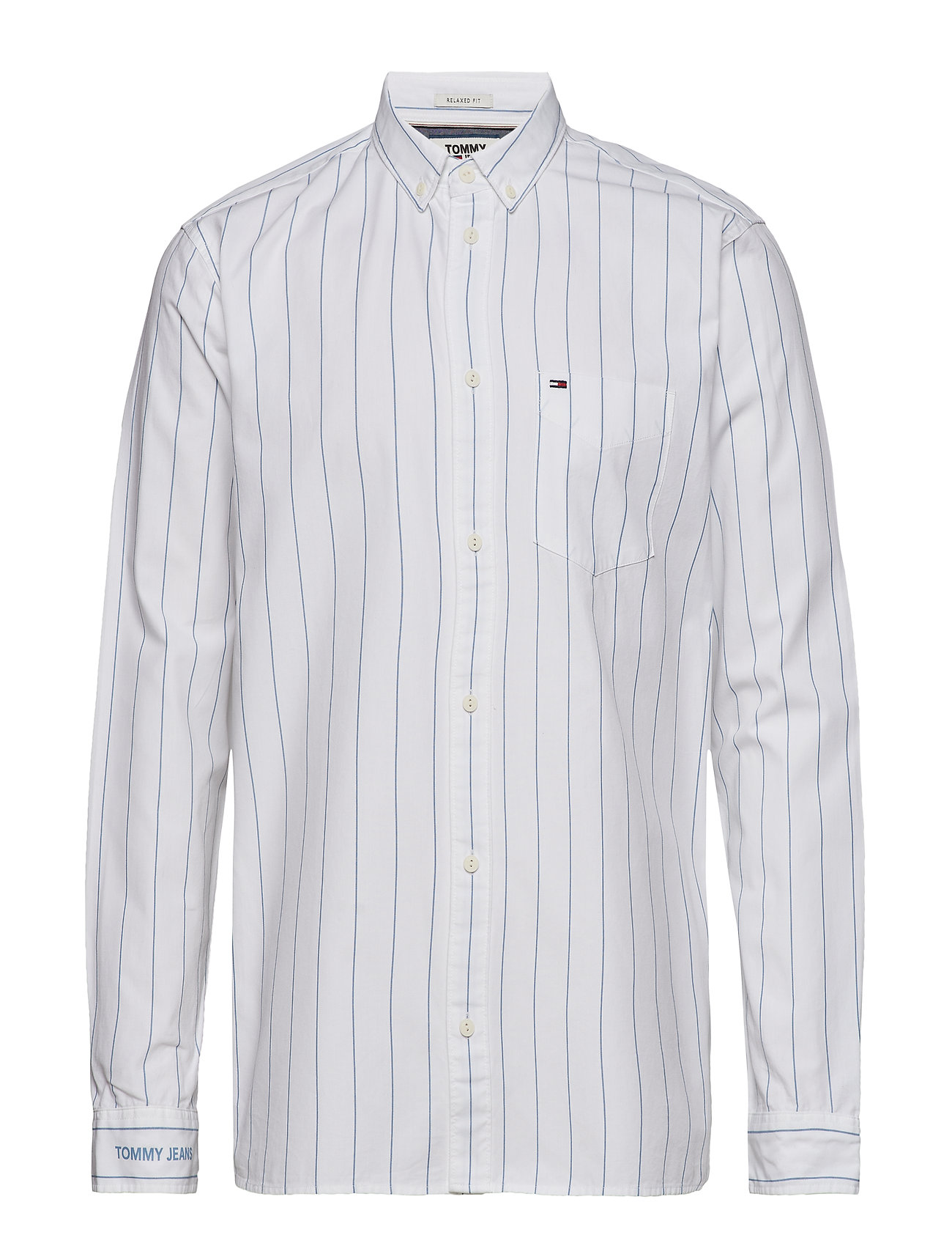 Tommy Jeans TJM PINSTRIPE SHIRT, - CLASSIC WHITE