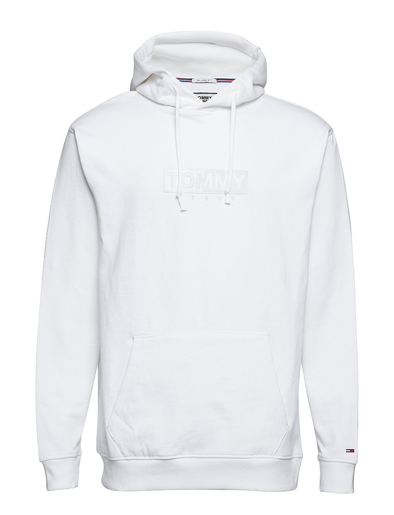 Tommy Jeans TJM FLEECE EMBROIDER - CLASSIC WHITE