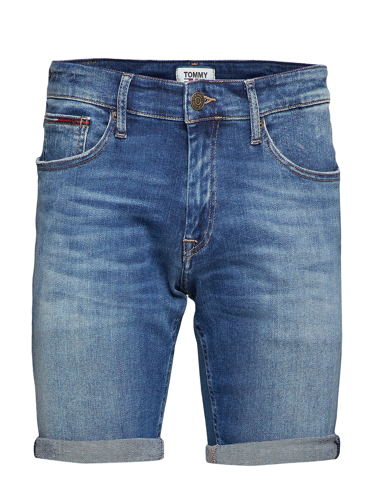 Tommy Jeans SCANTON SHORT - FALCON MID BLUE STR