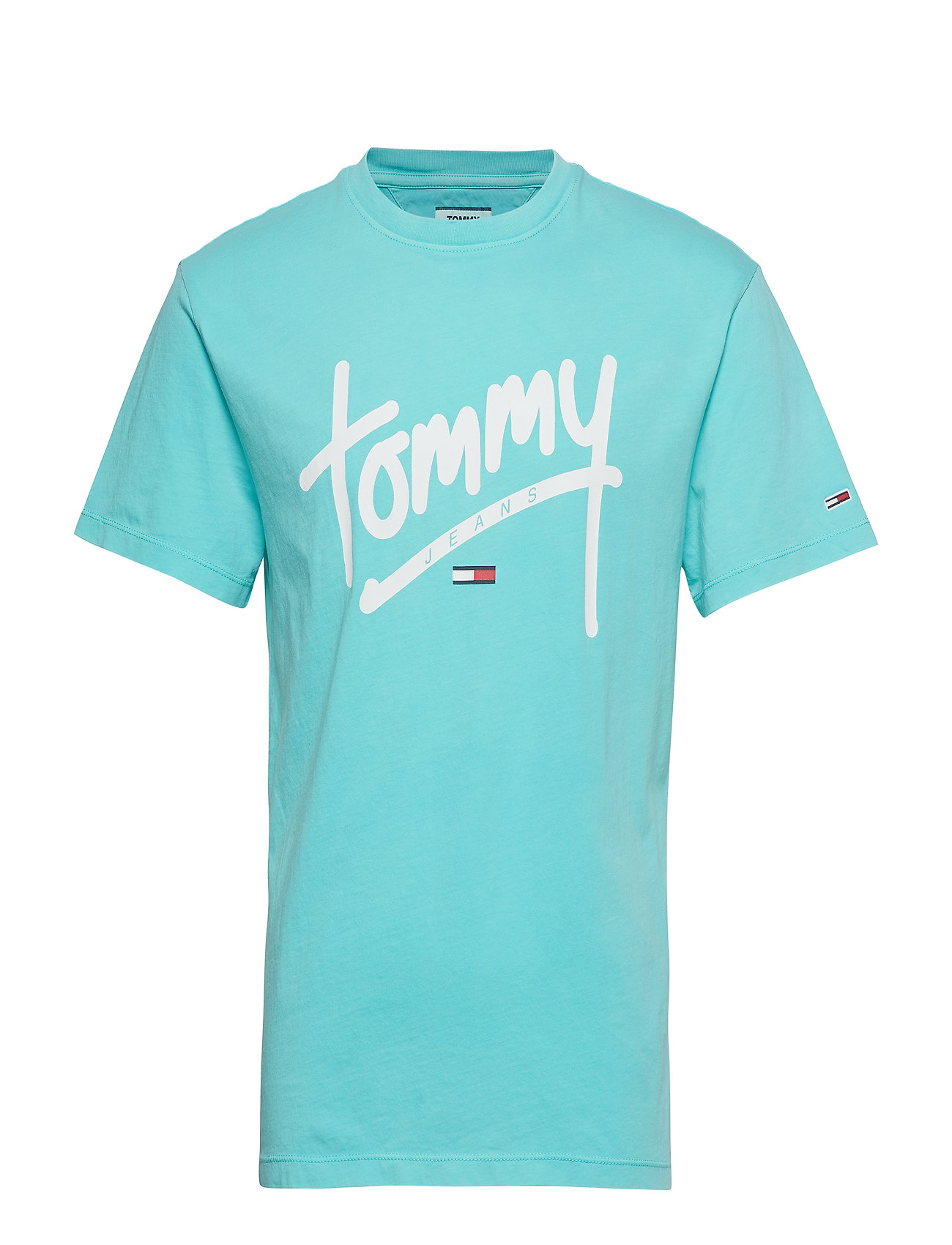 Tommy Jeans TJM HANDWRITING TEE - CERAMIC