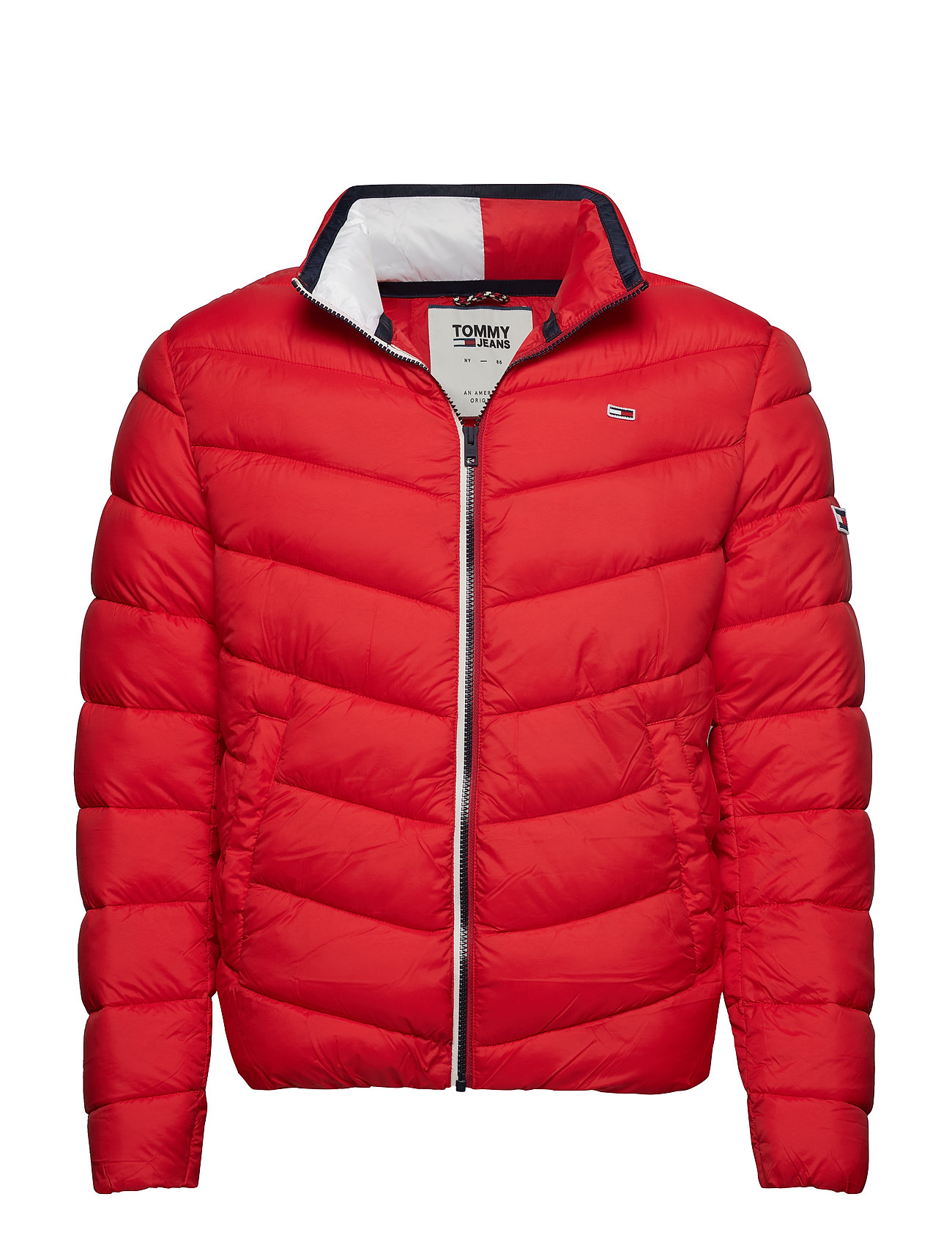 Tommy Jeans TJM ESSENTIAL PUFFER - FLAME SCARLET