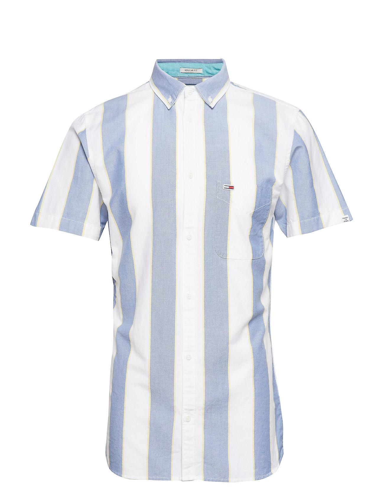 Tommy Jeans TJM STRIPED OXFORD S - FEDERAL BLUE / MULTI