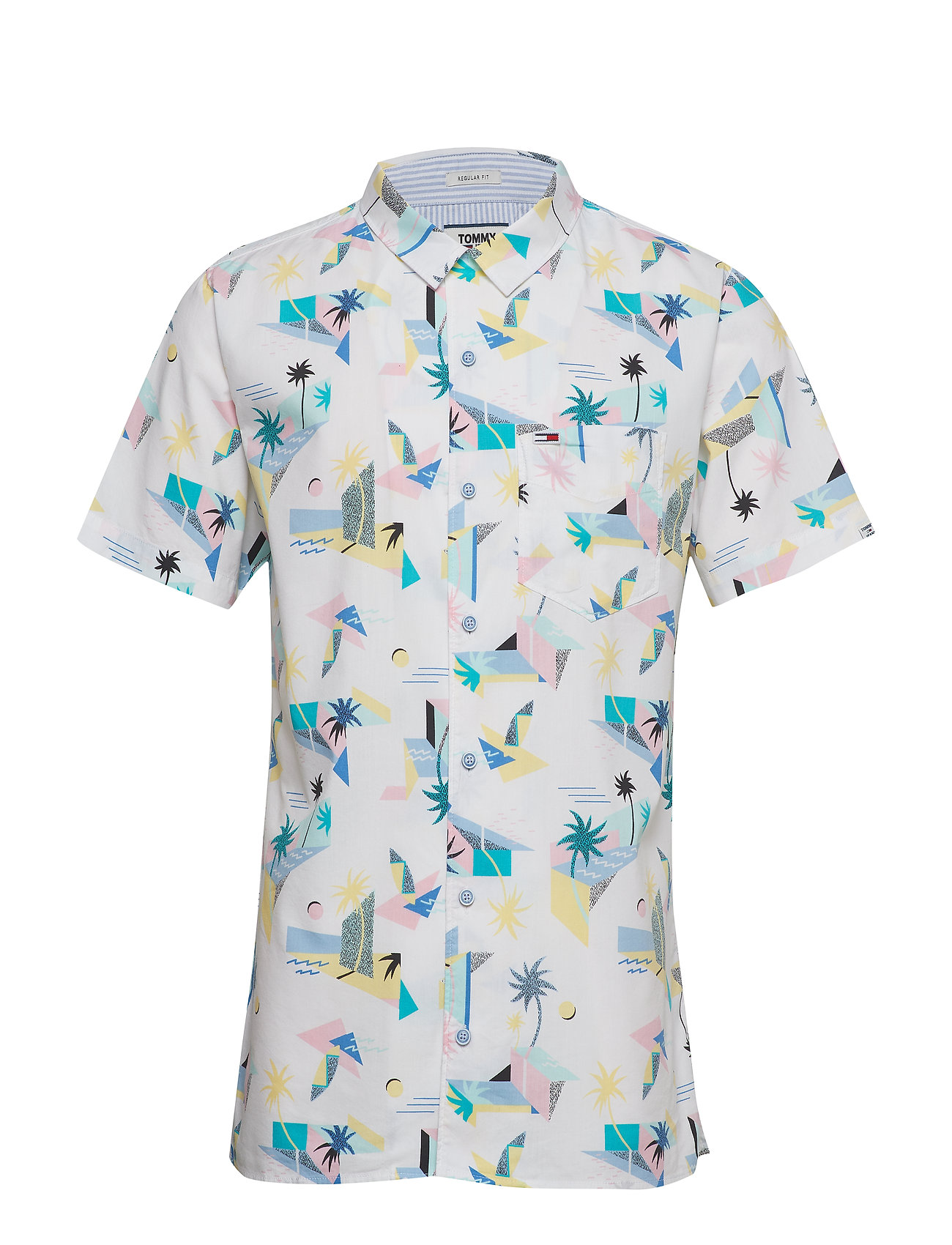 Tommy Jeans TJM PRINTED SHIRT - SURF PRINT