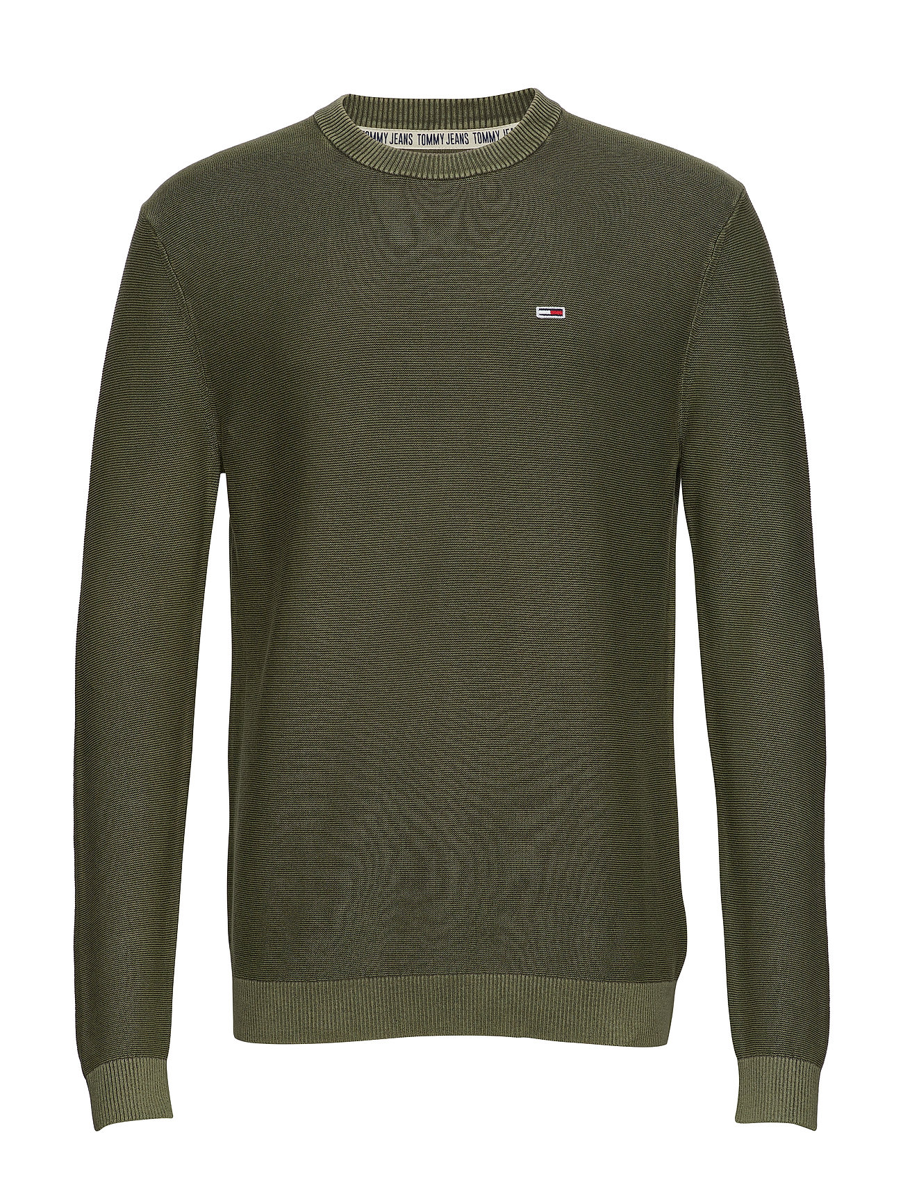 Tommy Jeans TJM WASHED SWEATER - OLIVE NIGHT