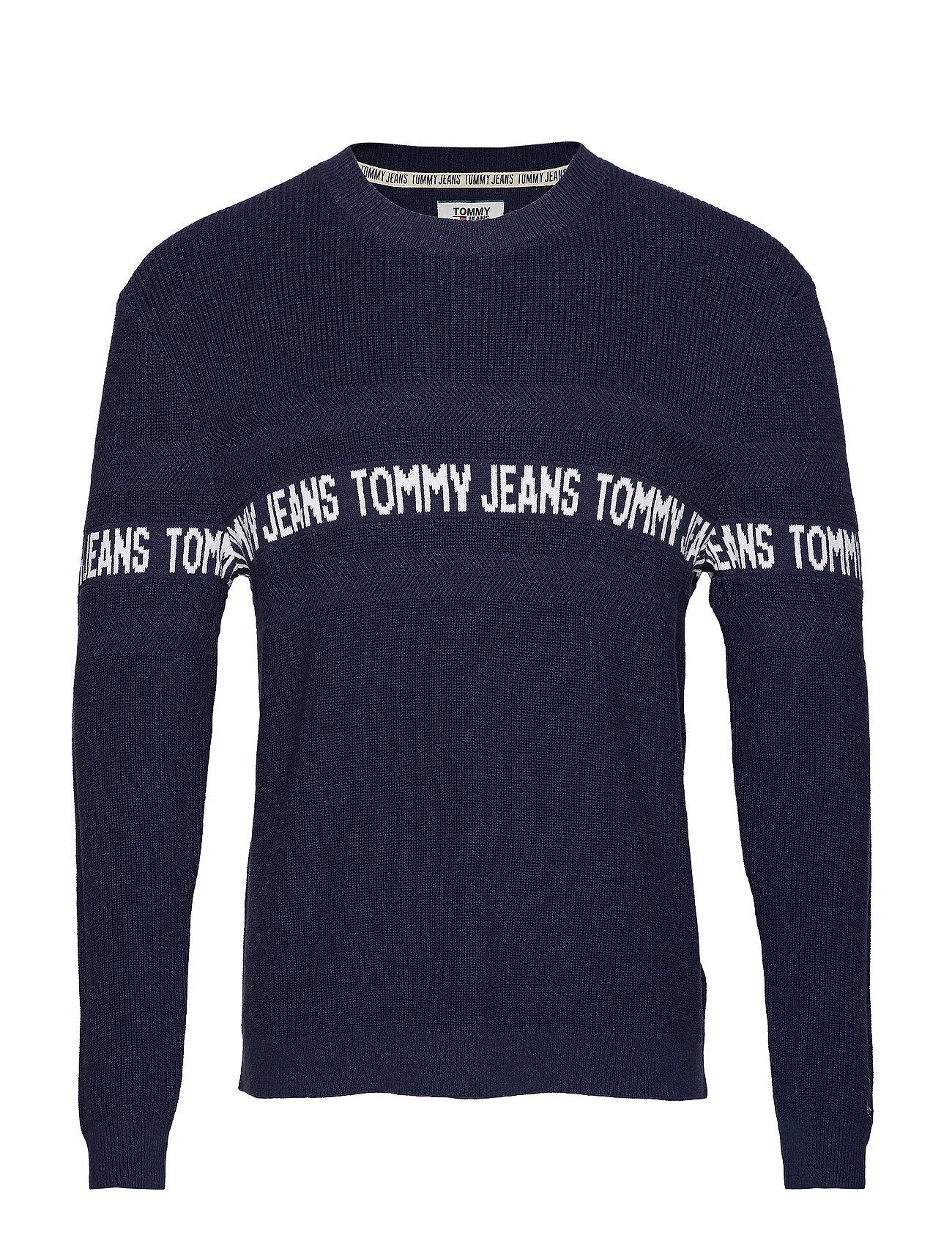 Tommy Jeans TJM TAPE SWEATER - BLACK IRIS