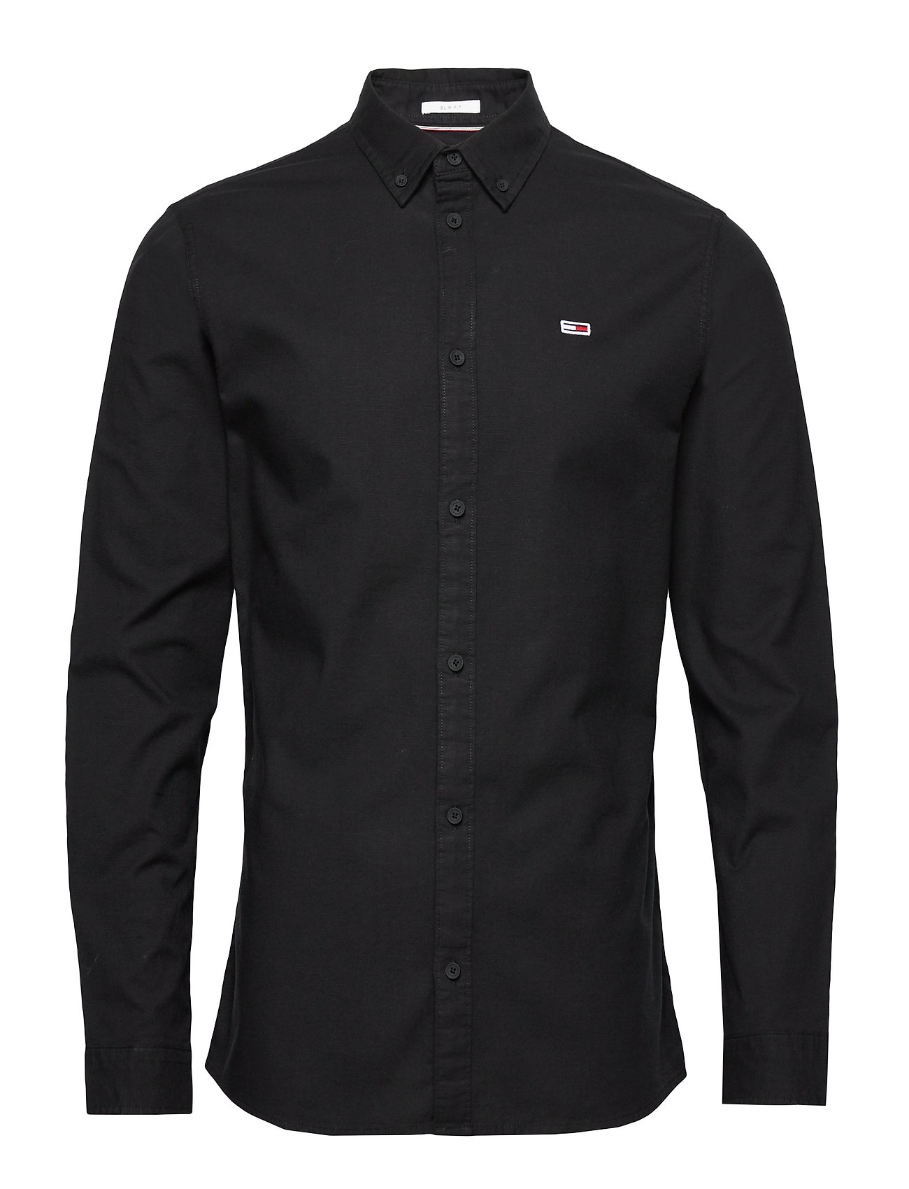 Tommy Jeans TJM STRETCH OXFORD SHIRT - TOMMY BLACK