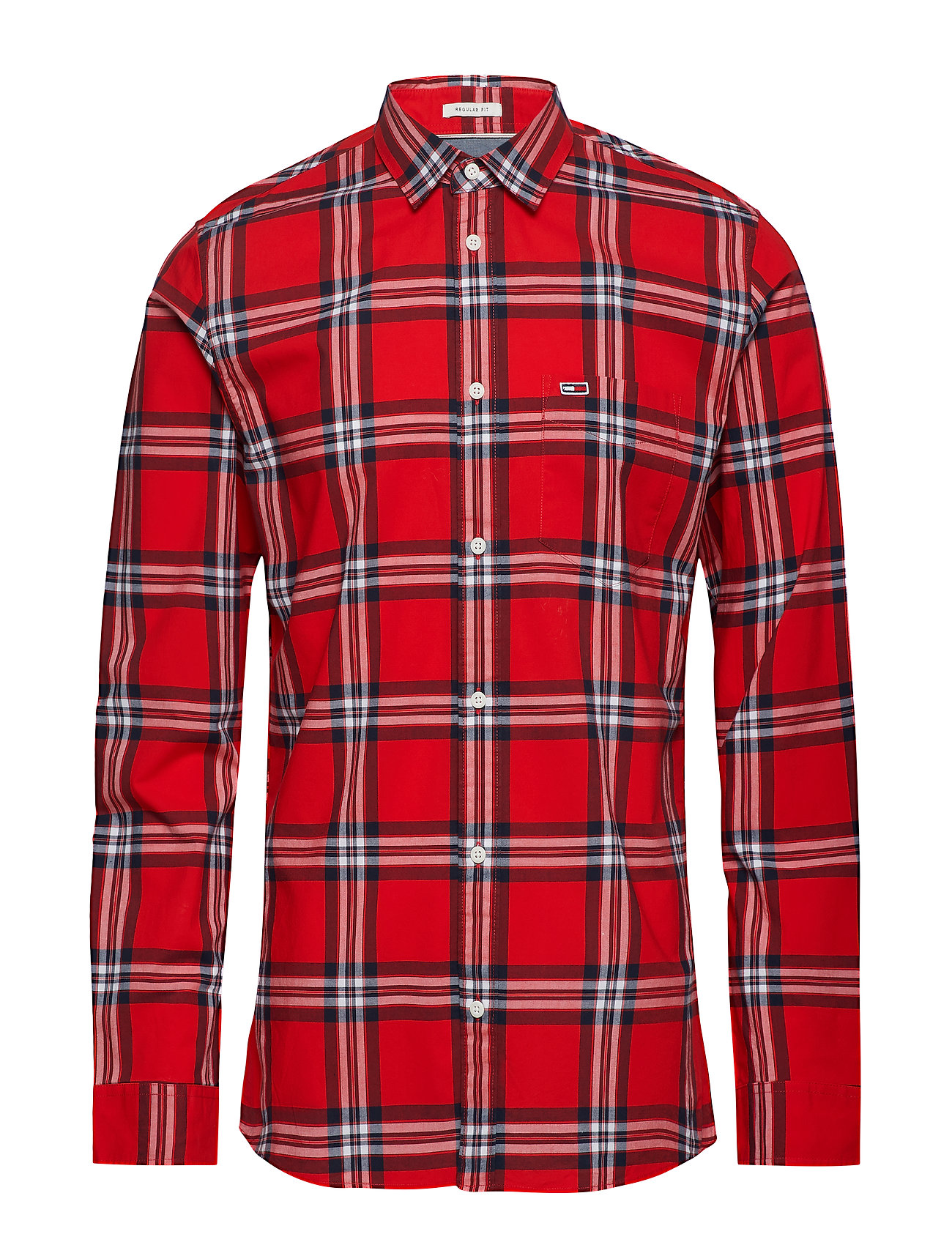 Tommy Jeans TJM ESSENTIAL CHECK - FLAME SCARLET / MULTI