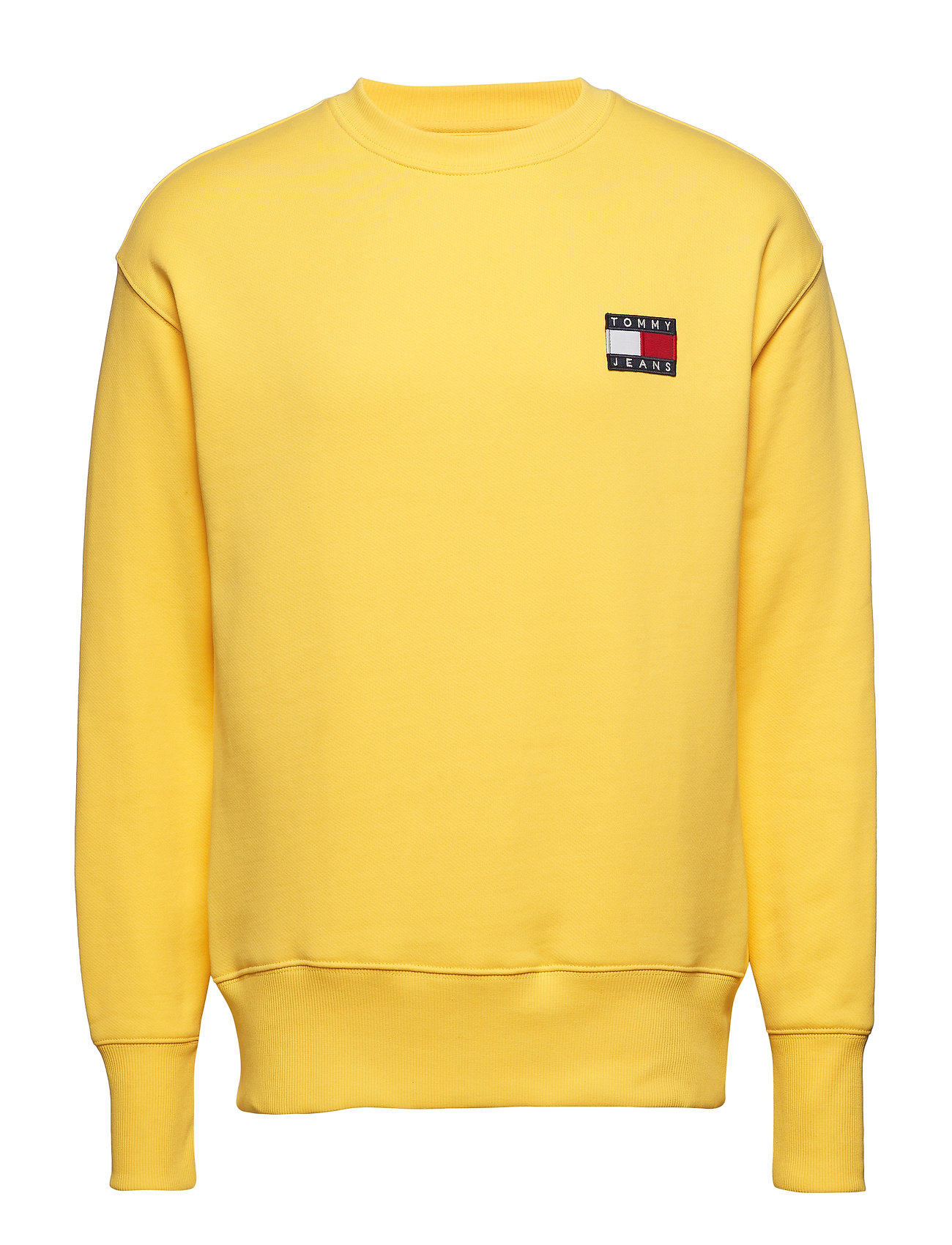 Tommy Jeans TJM TOMMY BADGE CREW - ASPEN GOLD