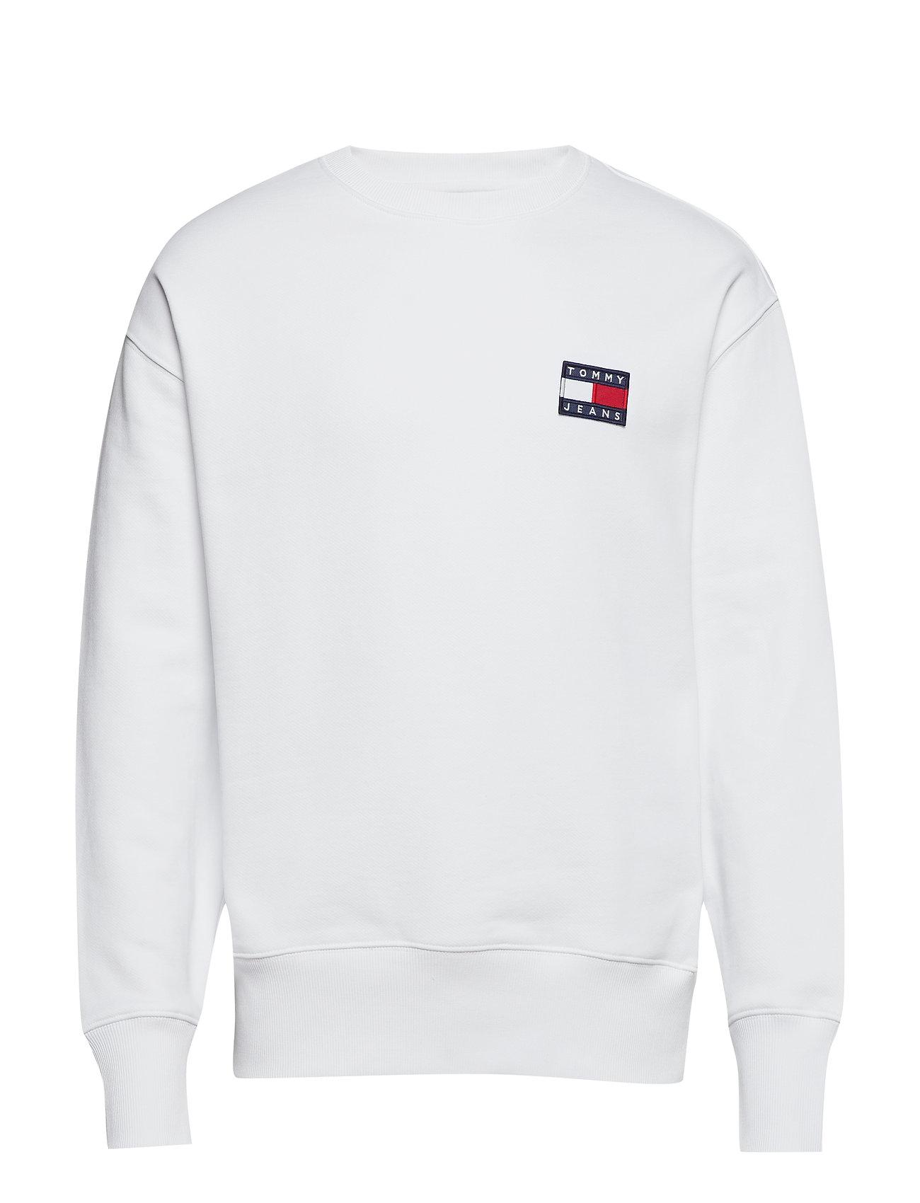 Image of Tjm Tommy Badge Crew Sweatshirt Trøje Hvid Tommy Jeans (3197576099)