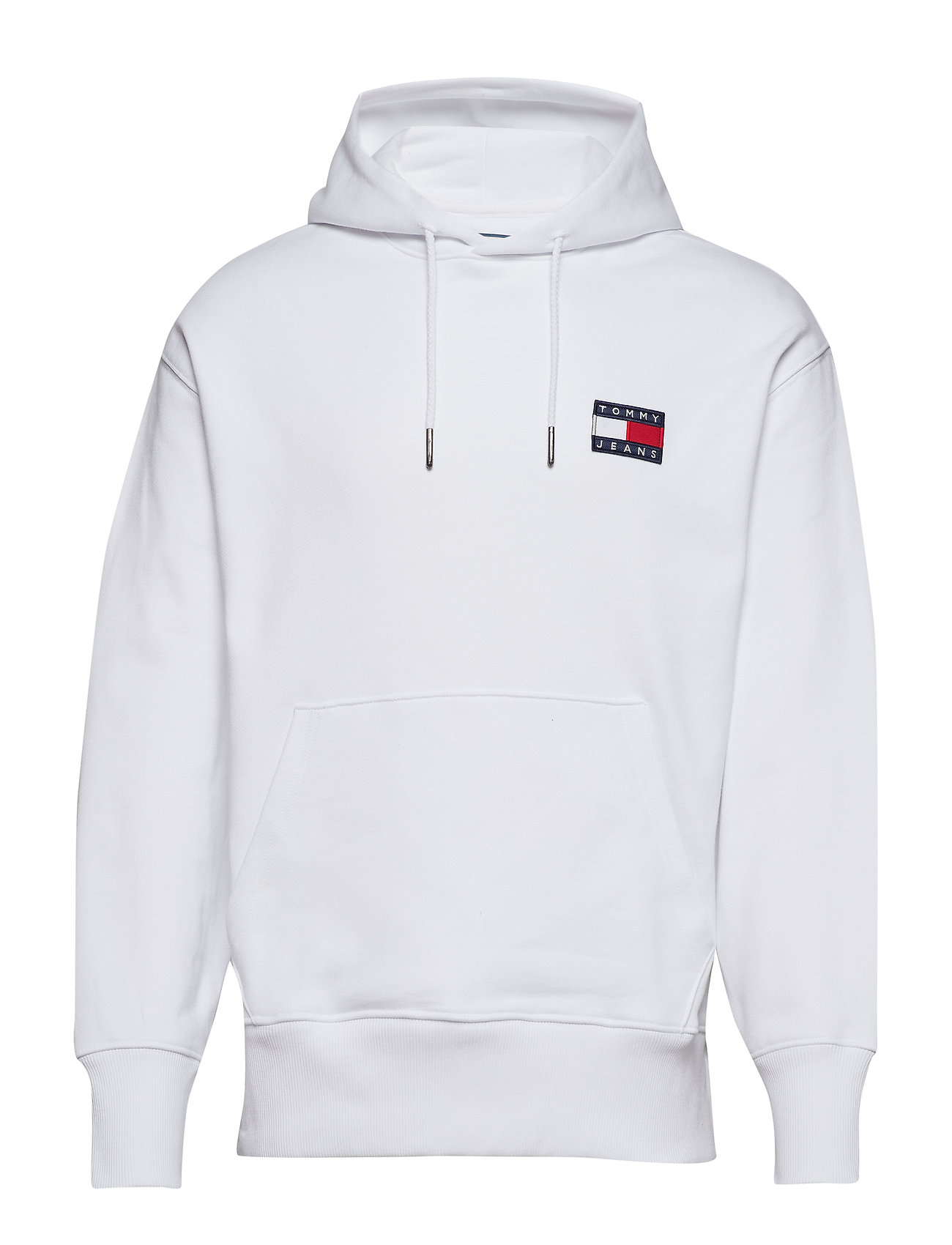 Tommy Jeans TJM TOMMY BADGE HOOD - CLASSIC WHITE