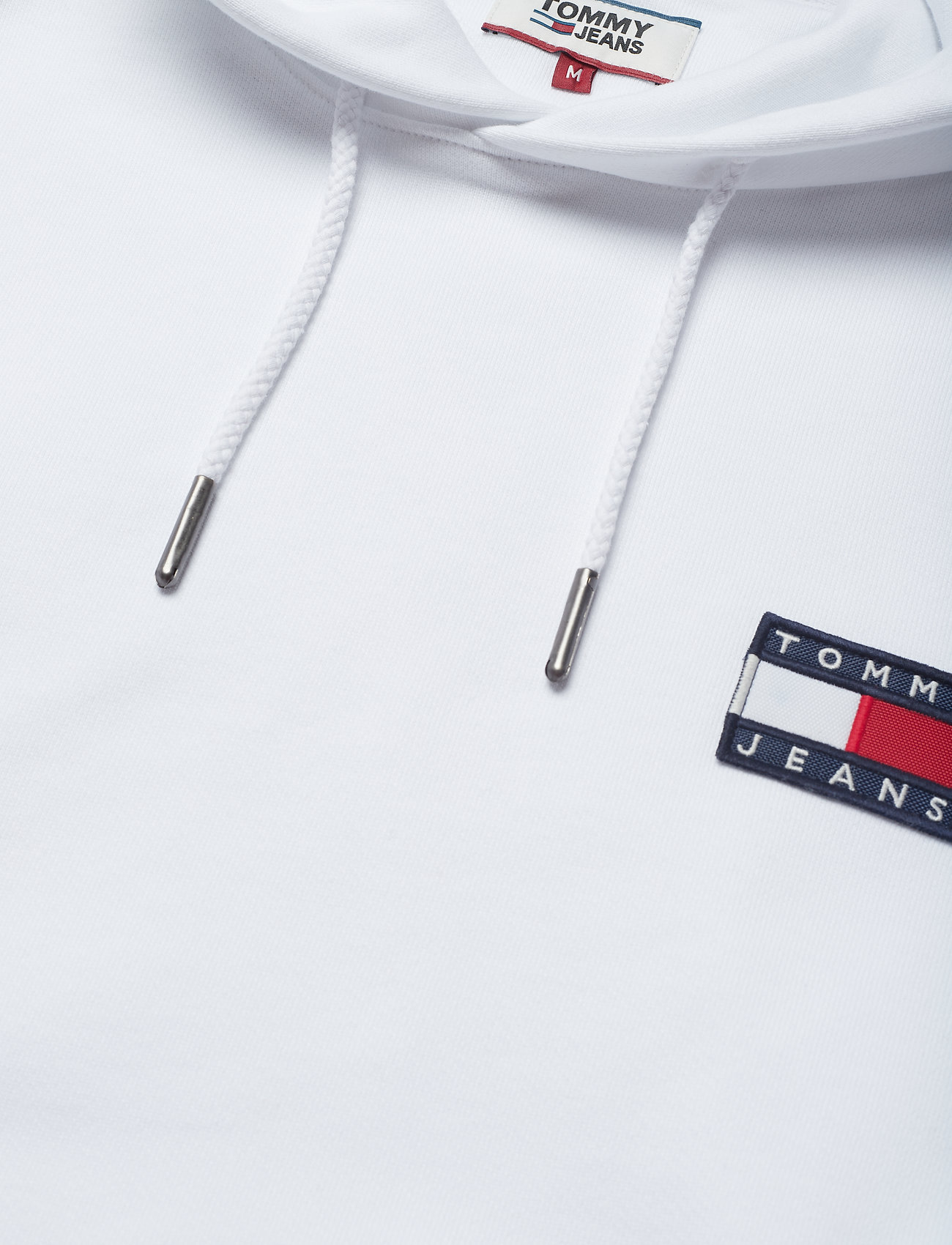 Tommy Jeans - TJM TOMMY BADGE HOODIE - hoodies - classic white