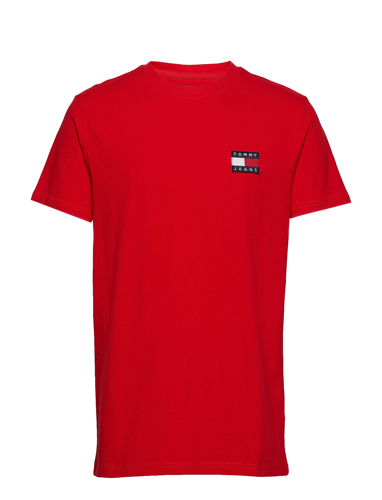 Tommy Jeans TJM TOMMY BADGE TEE - FLAME SCARLET
