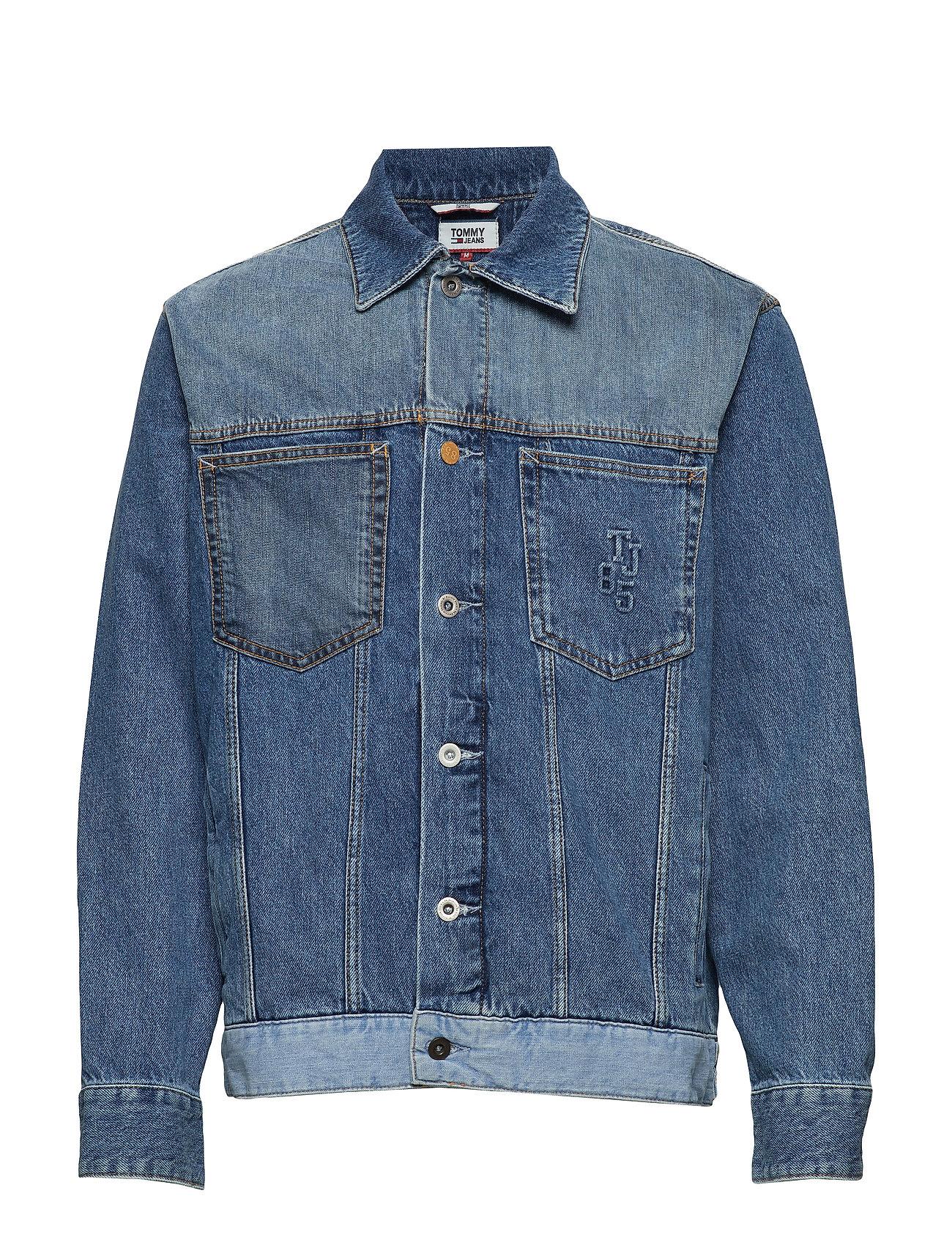 Tommy Jeans OVERSIZED TRUCKER JA - CARE MIX BL RIG