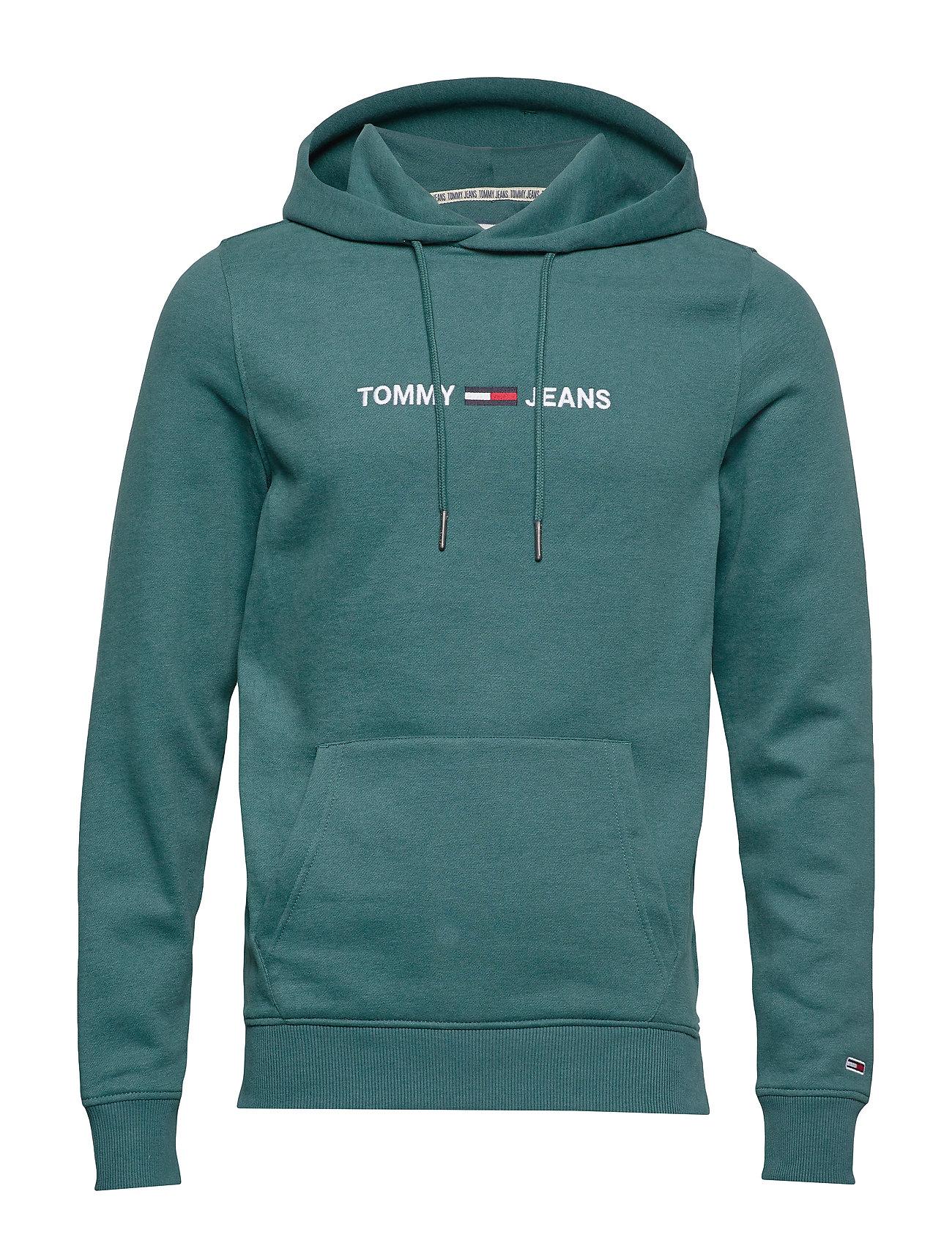 Tommy Jeans TJM STRAIGHT LOGO HOODIE - ATLANTIC DEEP
