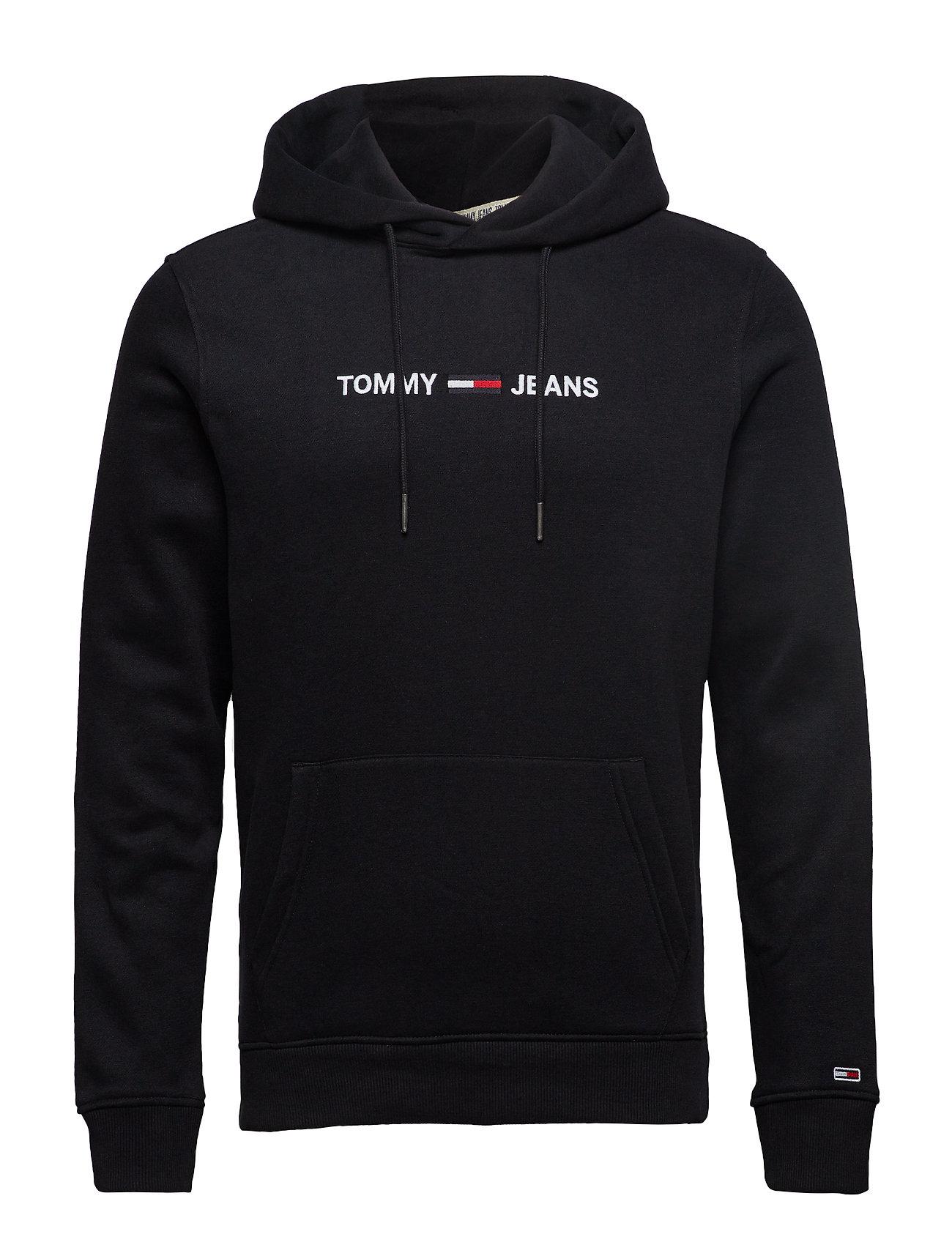 Tommy Jeans TJM STRAIGHT LOGO HO - TOMMY BLACK