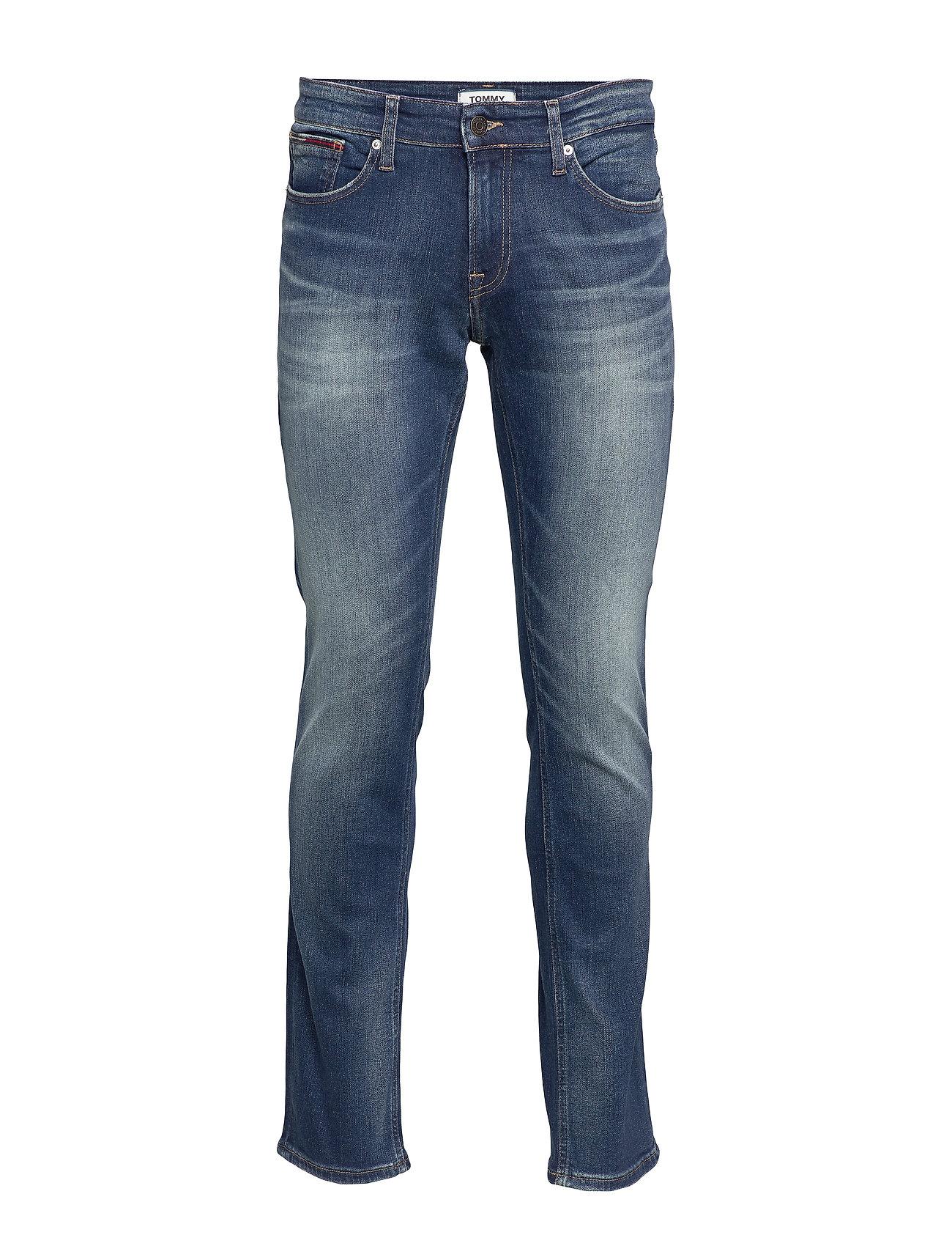 Tommy Jeans SLIM SCANTON RDWK - REDWOOD DK BL ST