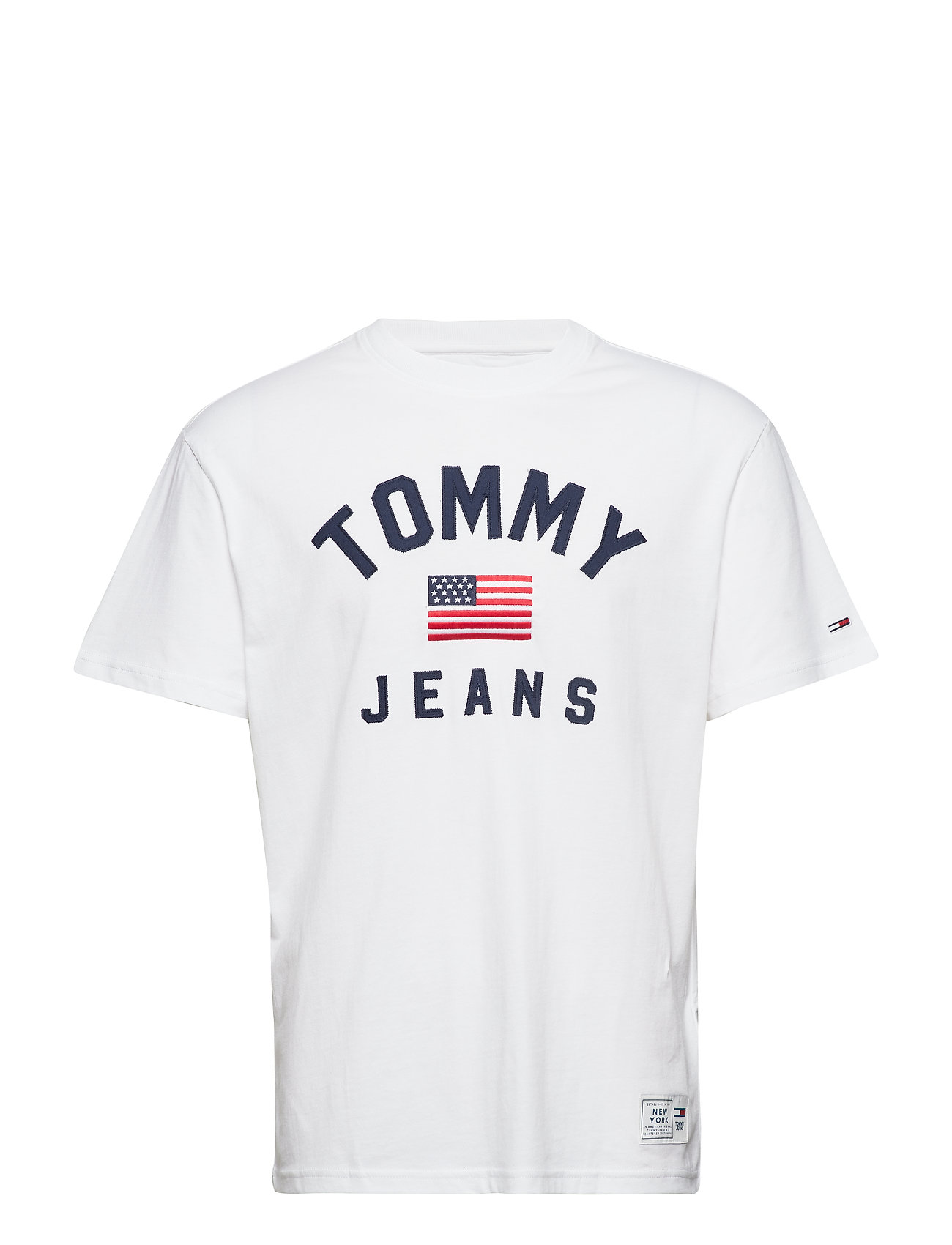 Tommy Jeans TJM USA FLAG TEE - CLASSIC WHITE