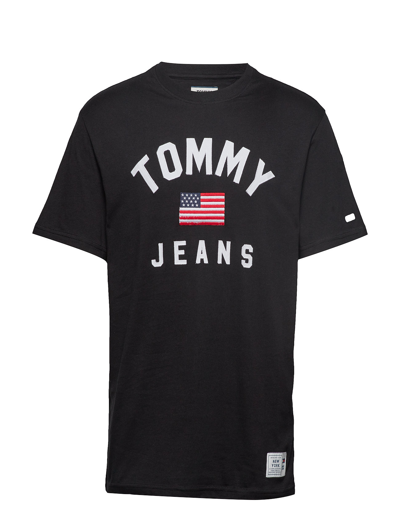 Tommy Jeans TJM USA FLAG TEE - TOMMY BLACK