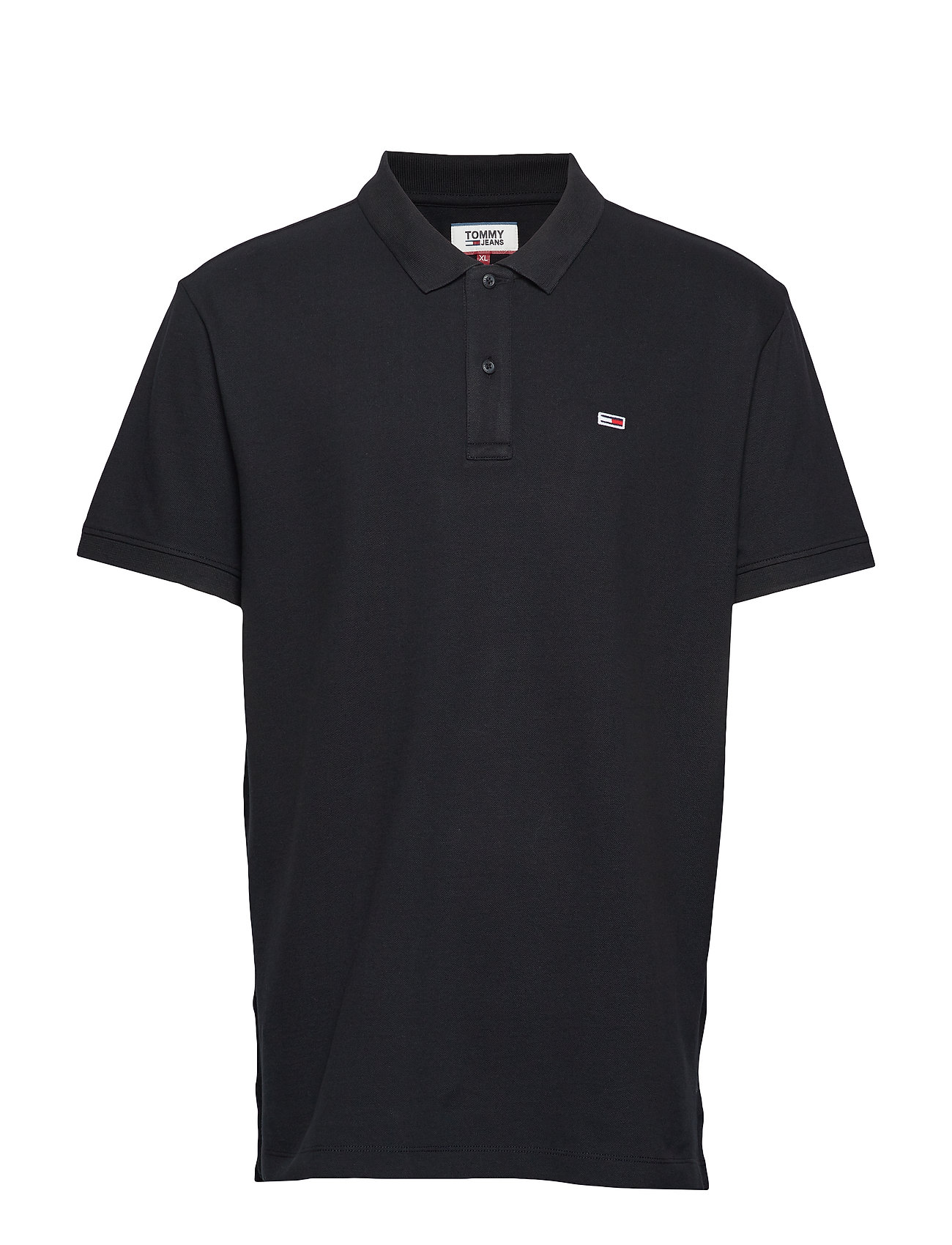 Tommy Jeans TJM CLASSICS SOLID STRETCH POLO - TOMMY BLACK