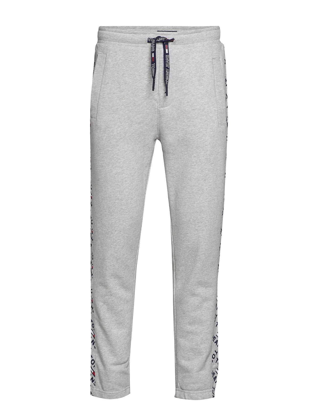 Tommy Jeans TJM CORP LOGO PRINT JOG PANT - LT GREY HTR