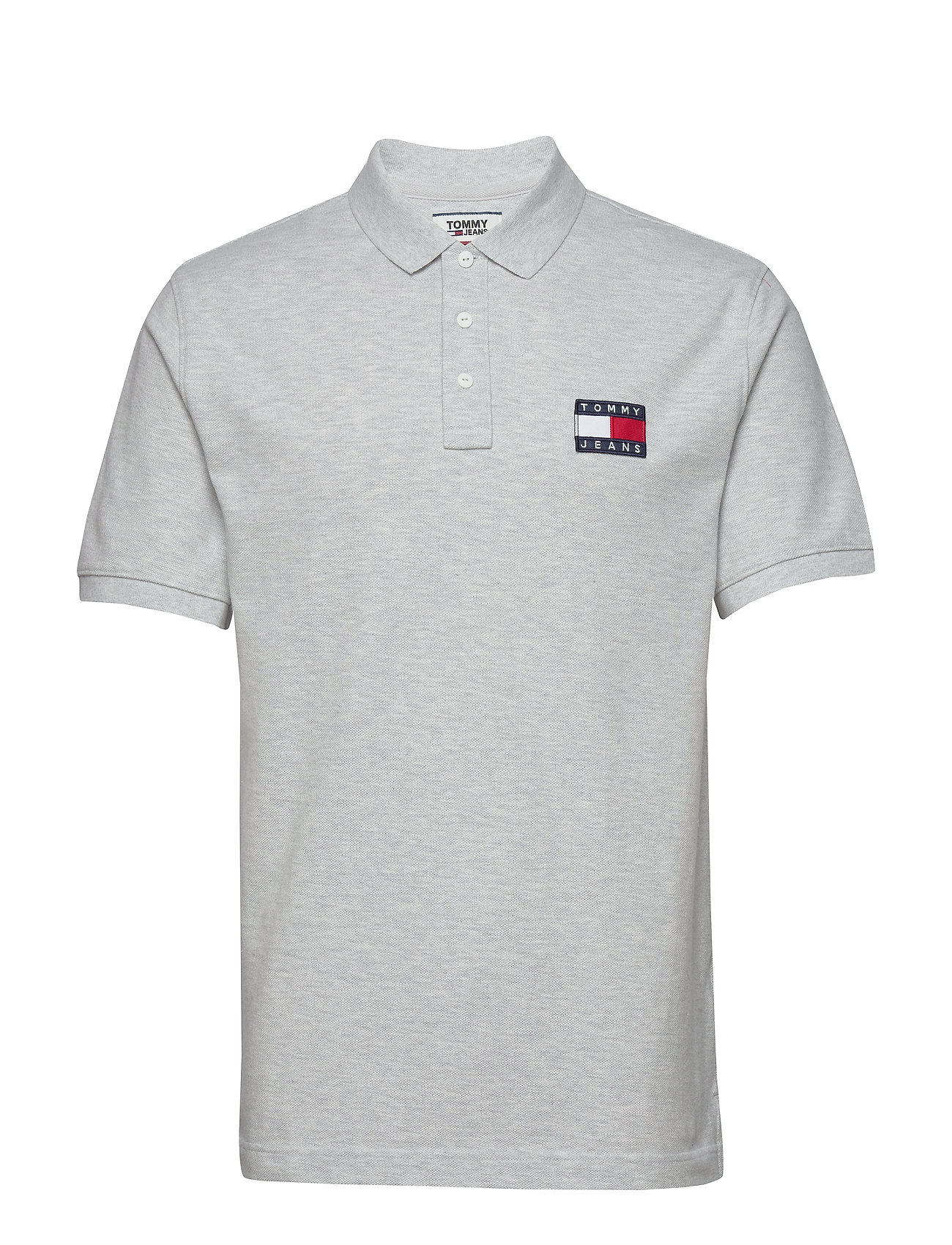 Image of Tjm Tommy Badge Polo Polos Short-sleeved Grå Tommy Jeans (3453292811)