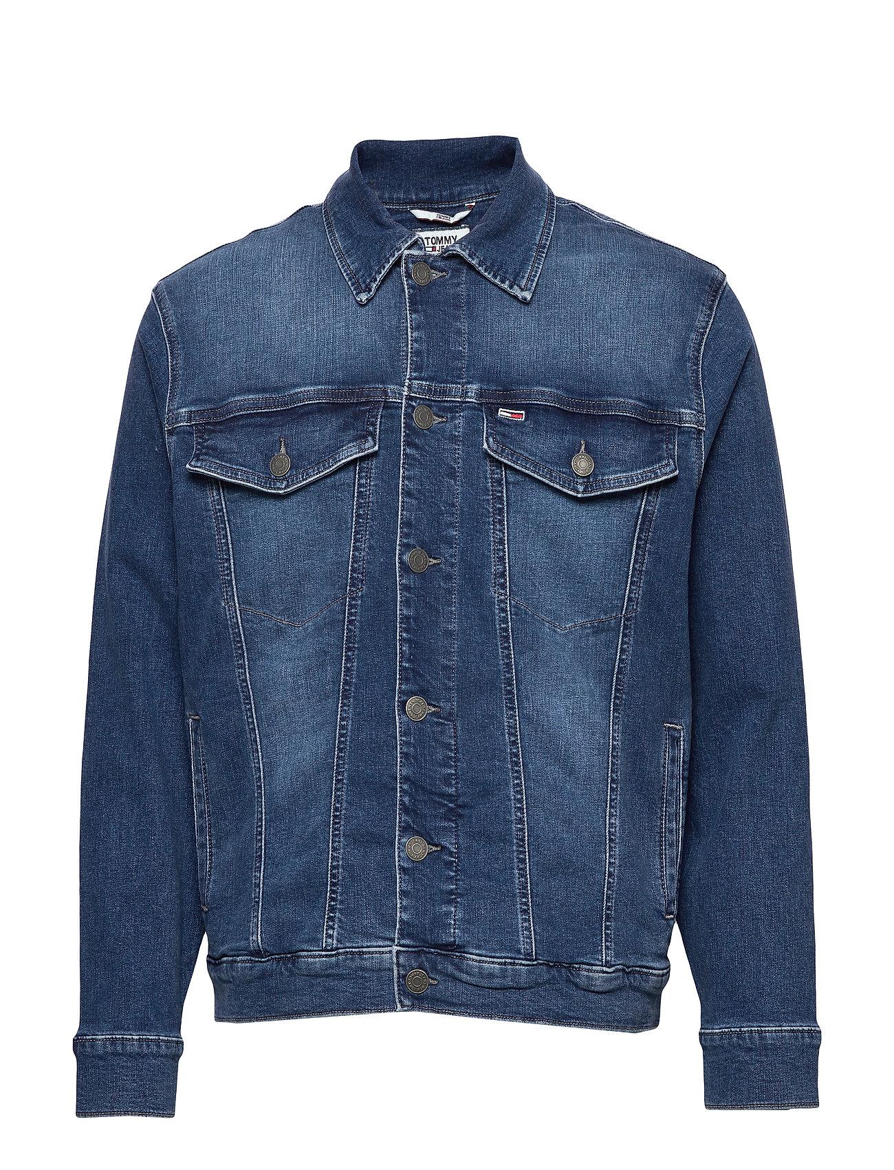 Tommy Jeans OVERSIZED DENIM TRUCKER BDFM - BEDFORD MID BL COM