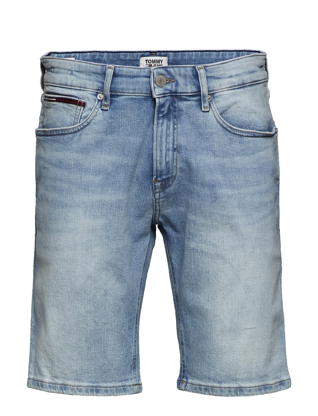 Tommy Jeans SCANTON SLIM SHORT CRTLT - COURT LT BL STR