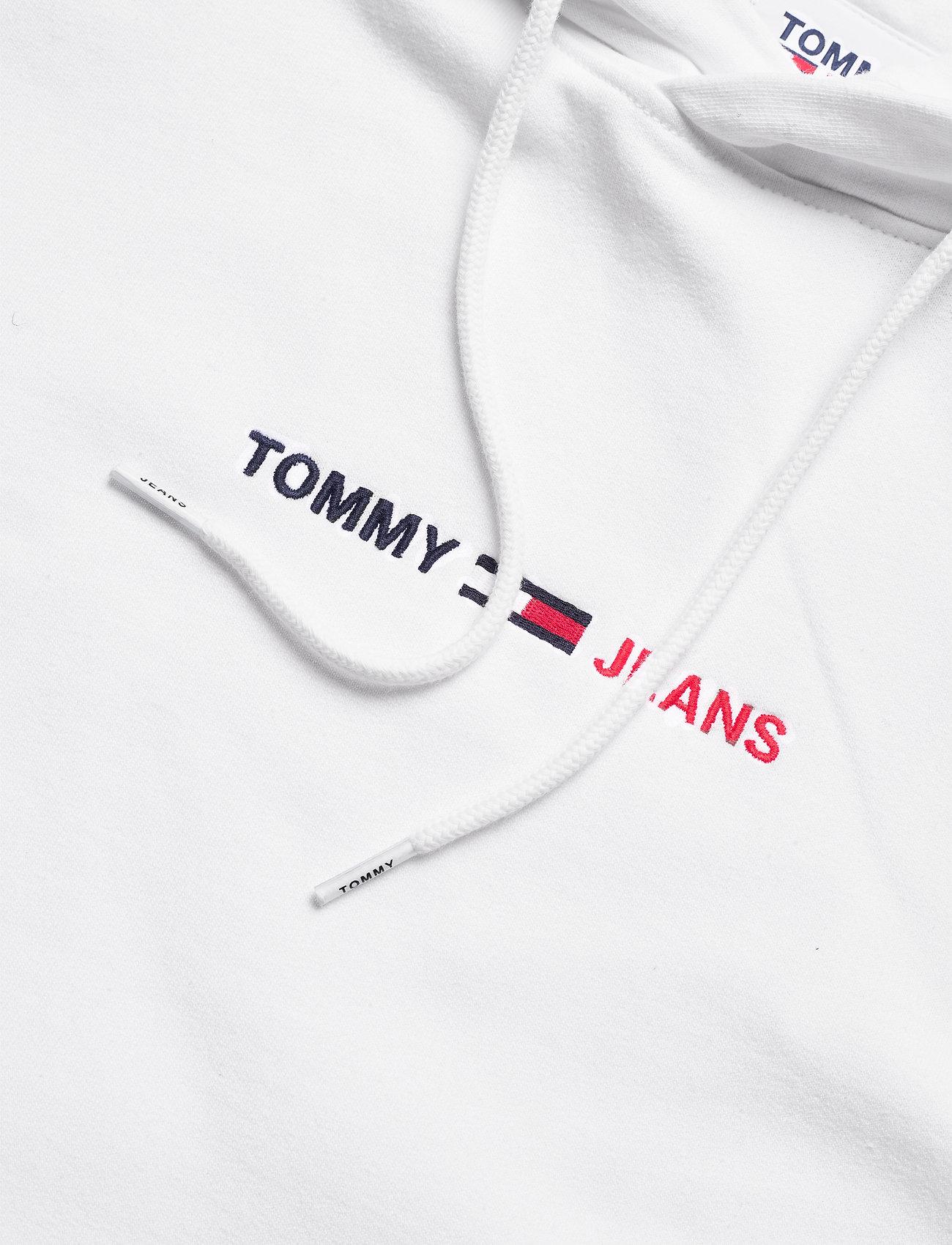 Tommy Jeans - TJM STRAIGHT LOGO HOODIE - sweats à capuche - white htr - 2