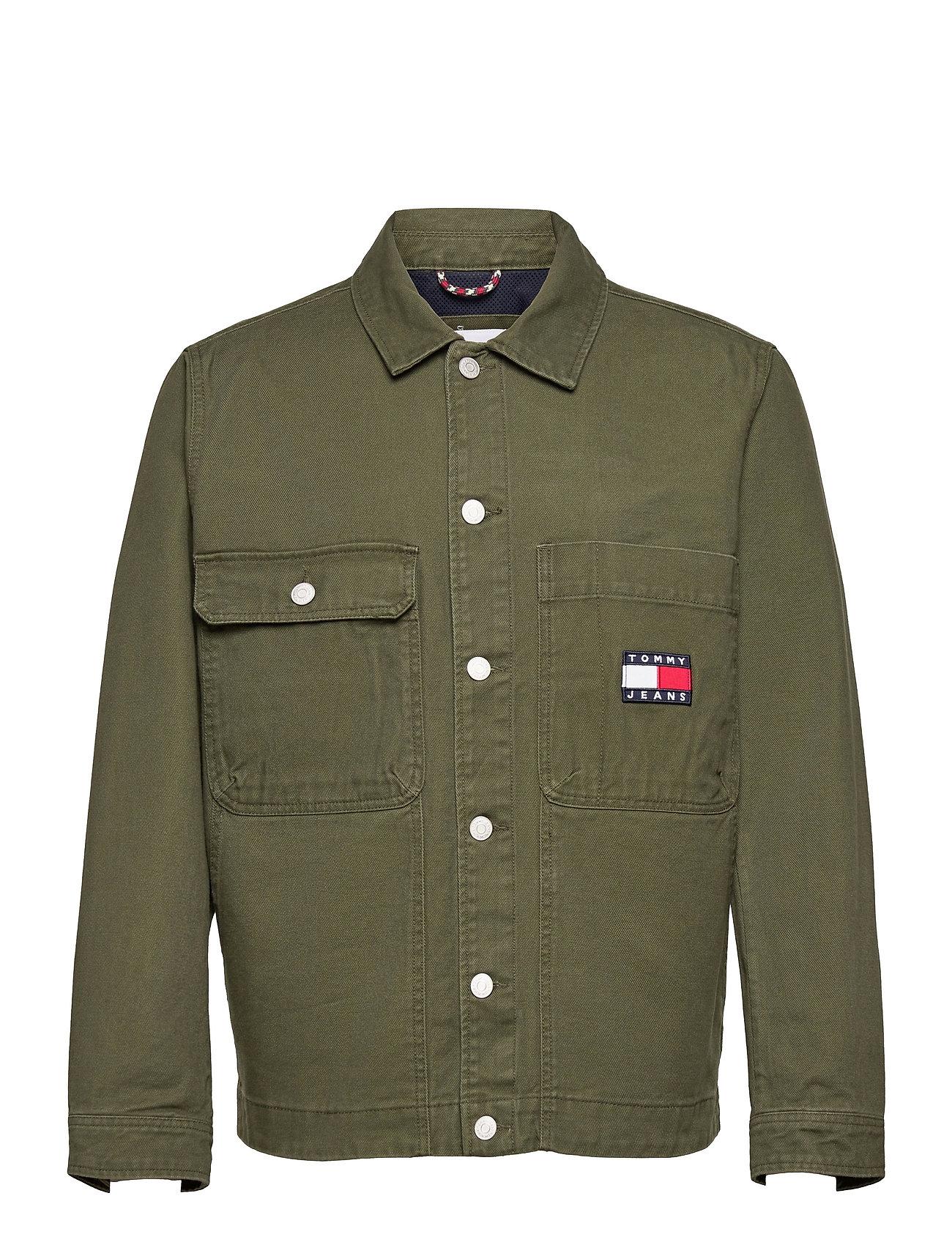Tjm Boxy Trucker Jacket Jakke Denimjakke Grøn Tommy Jeans