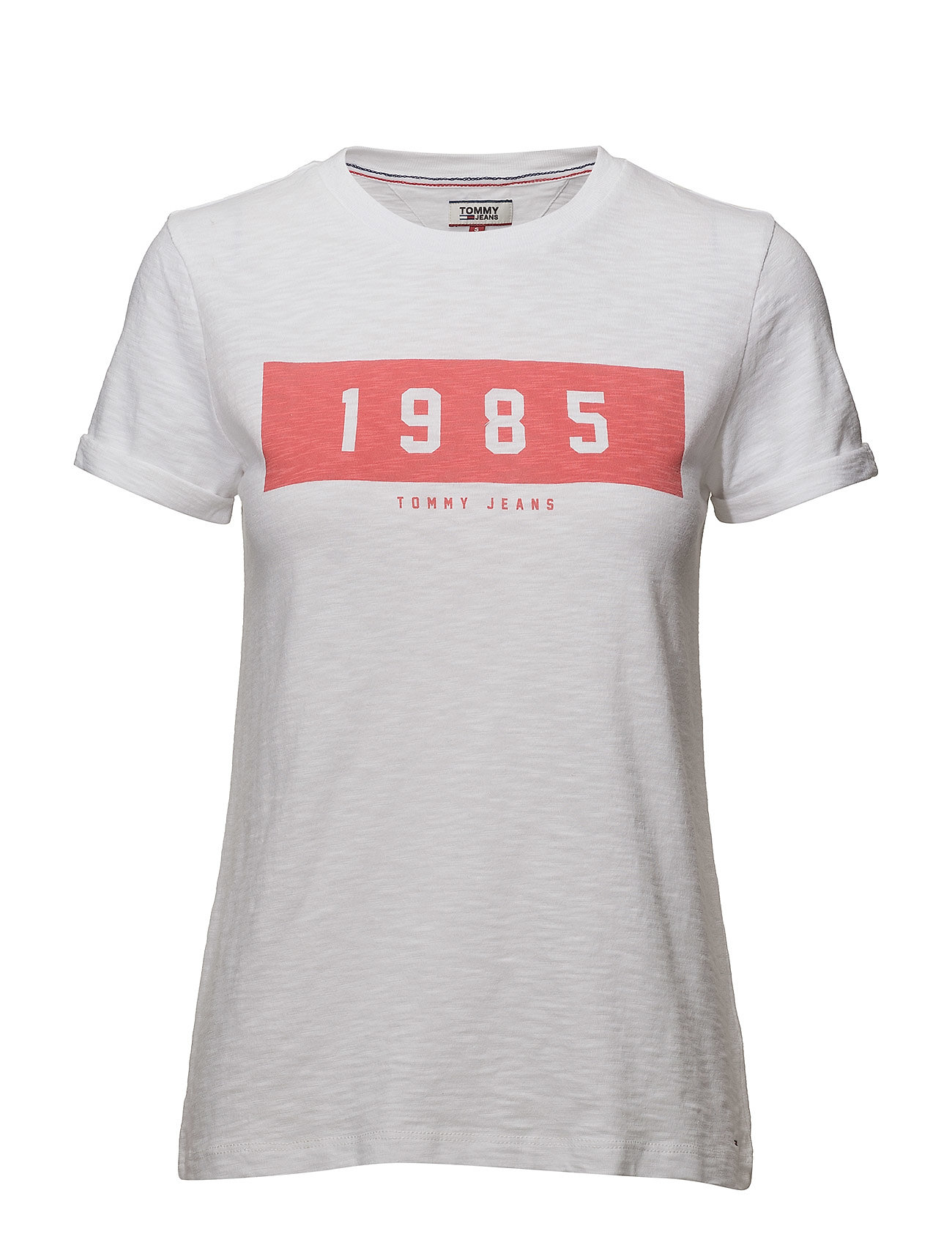 e6c2bd715cf608 Tommy Jeans Tjw Bold 1985 Tee (Bright White)