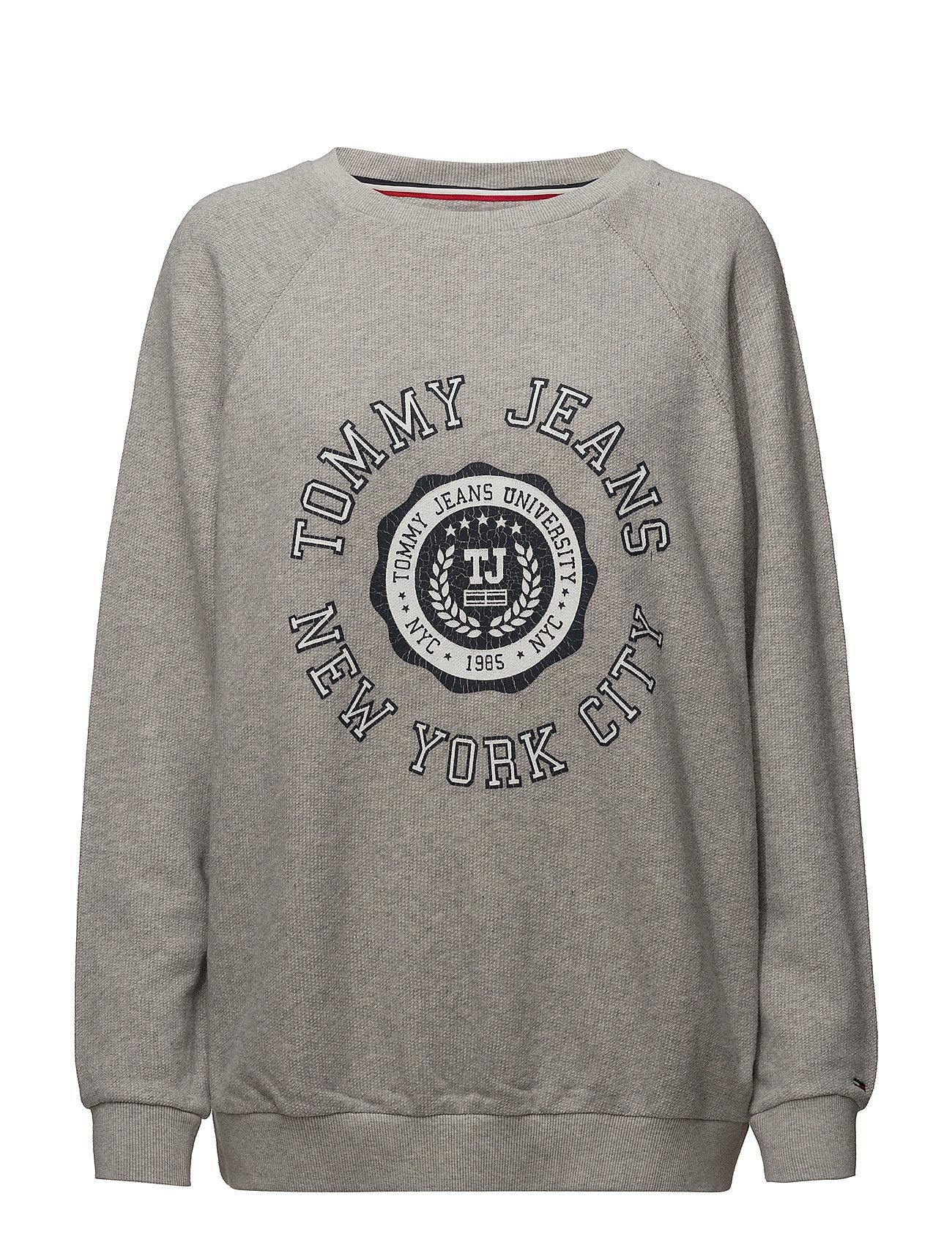 Logo Tommy Sweatshirtpale Grey Tjw HeatherJeans Stamp UVpqSzM
