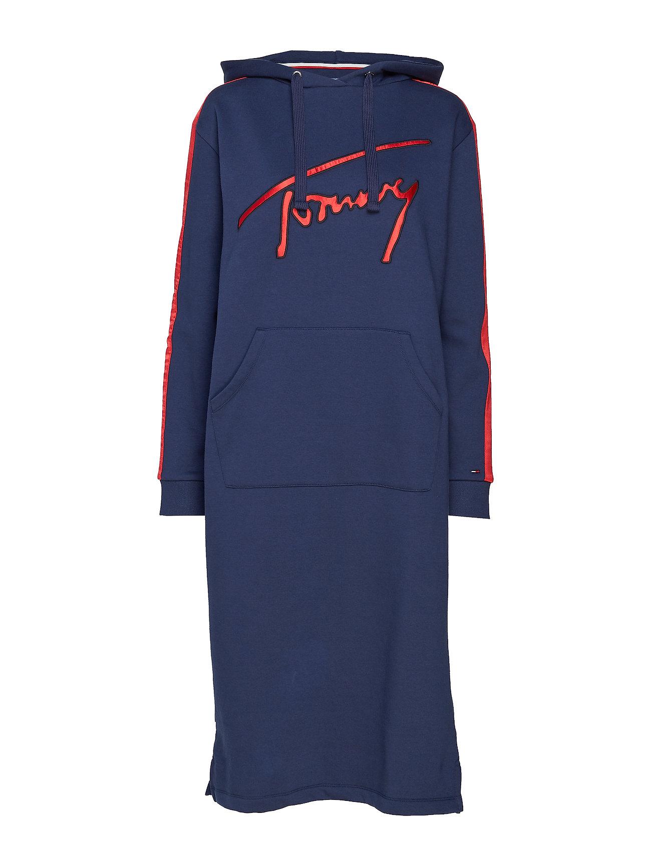 Tommy Jeans TJW VARSITY HOODIE D - BLACK IRIS