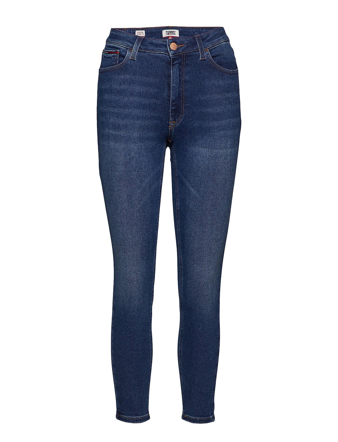 Tommy Jeans HIGH RISE SKNY SANTA - SOTO DARK BLUE STR