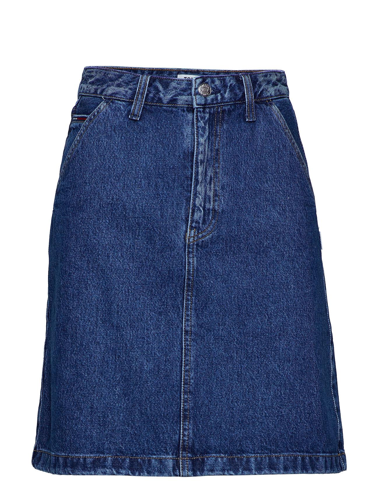 Tommy Jeans A LINE DENIM SKIRT G - GOUGH MID BLUE RIG