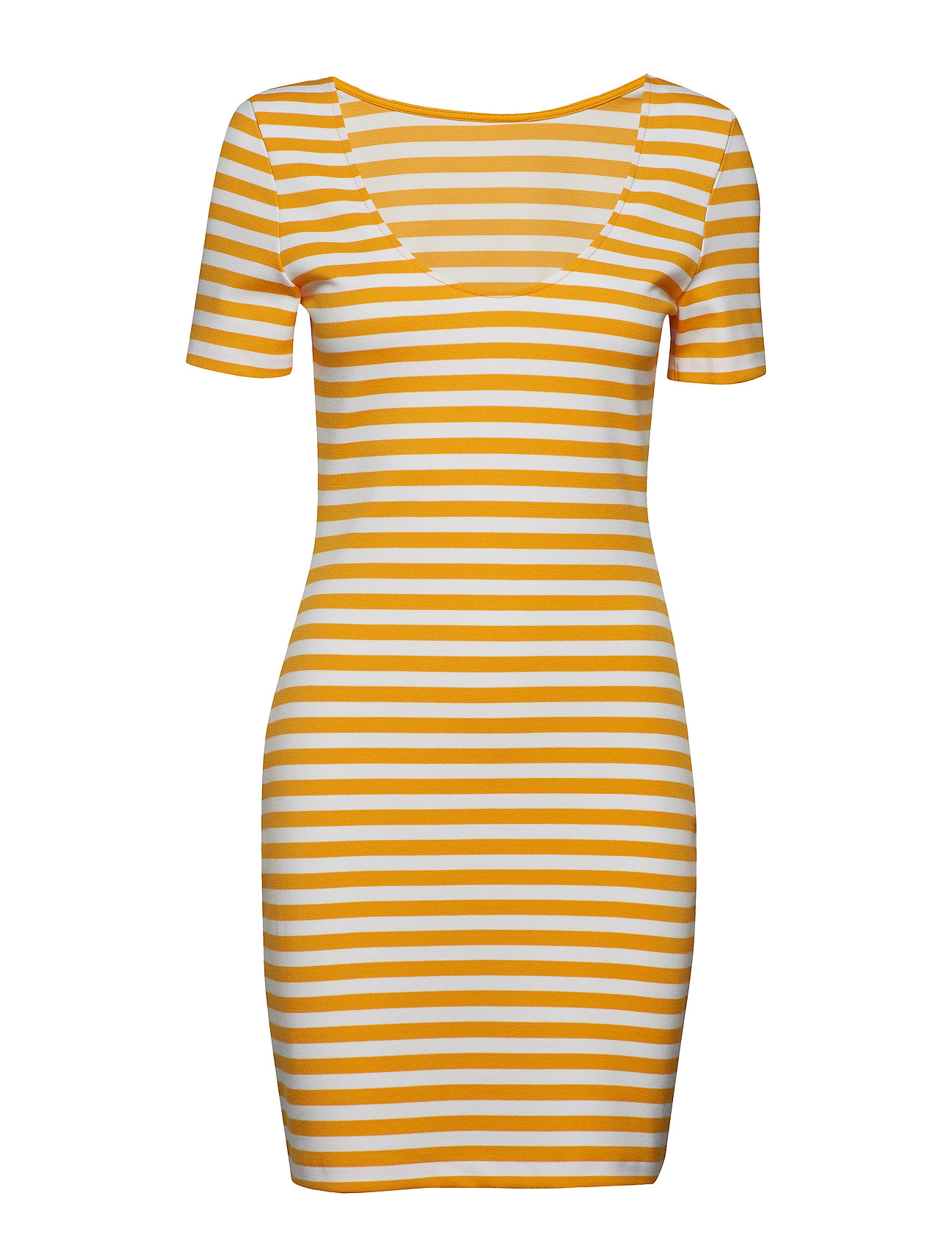 Tommy Jeans TJW TOMMY CLASSICS BODYCON DRESS - RADIANT YELLOW / CLASSIC WHITE