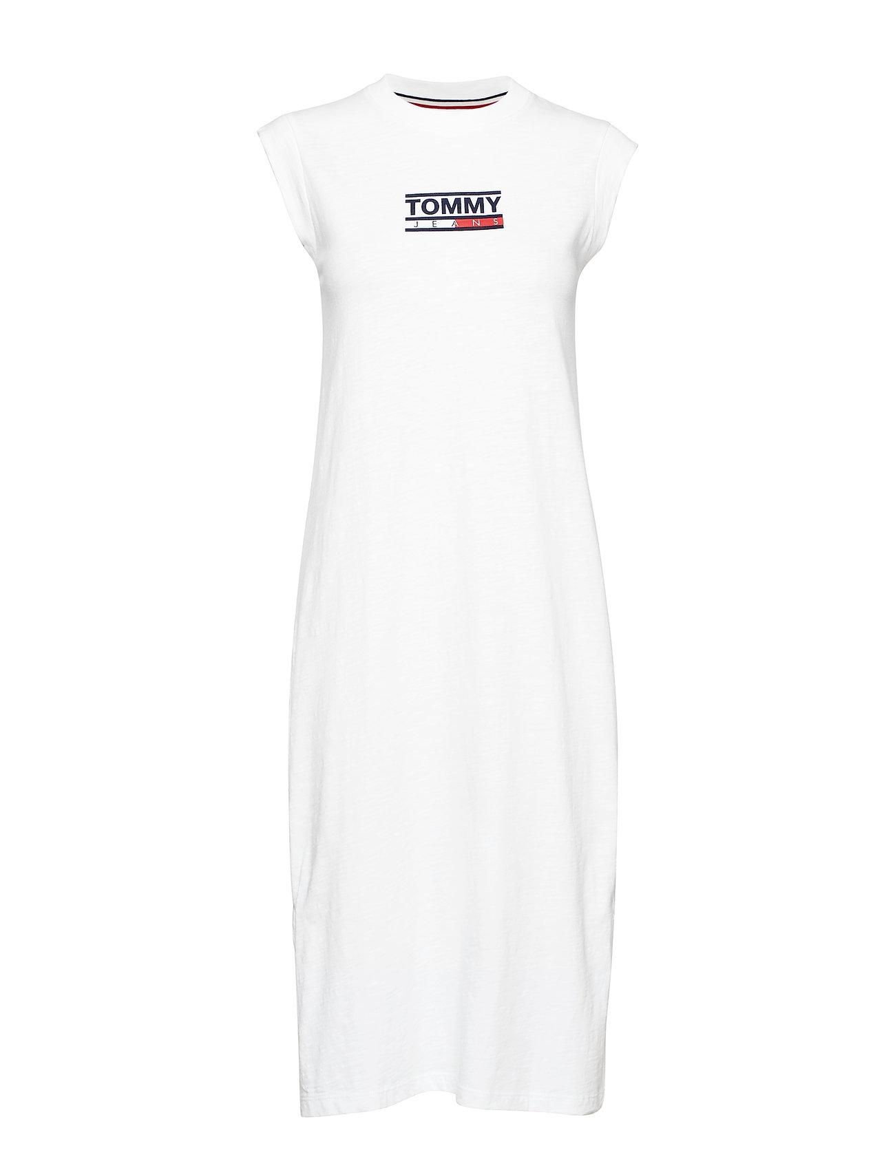 Tommy Jeans TJW LOGO TANK DRESS, - CLASSIC WHITE