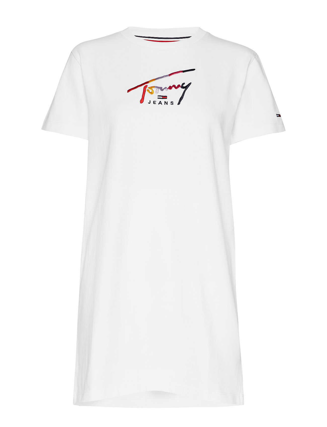Tommy Jeans TJW GRAPHIC TEE DRES - CLASSIC WHITE