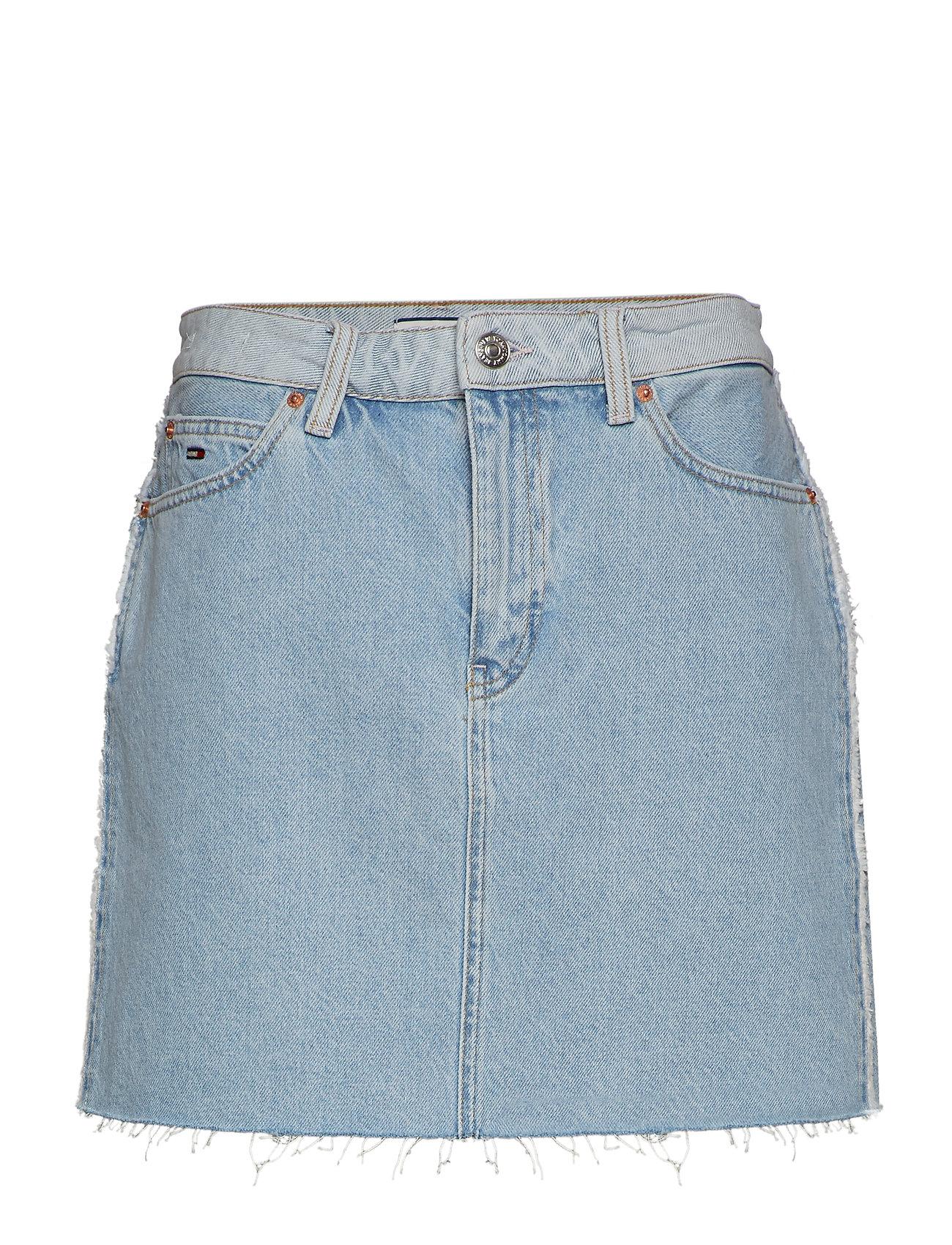 Tommy Jeans SHORT DENIM SKIRT BRGHTL - BRIGHT LIGHT BL RIG