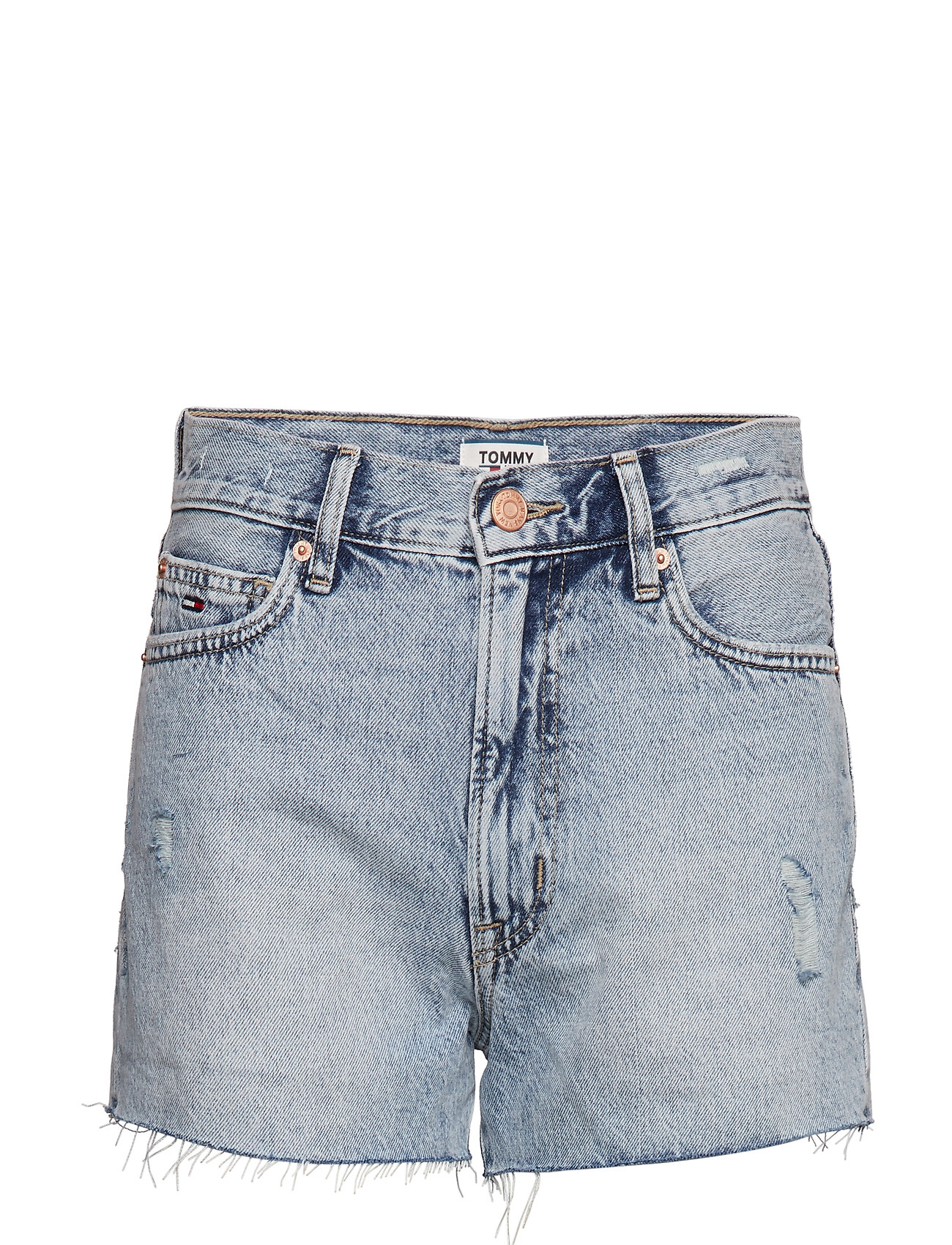 Tommy Jeans HOT PANT DENIM SHORT - TJ SILVER LT BL RIG