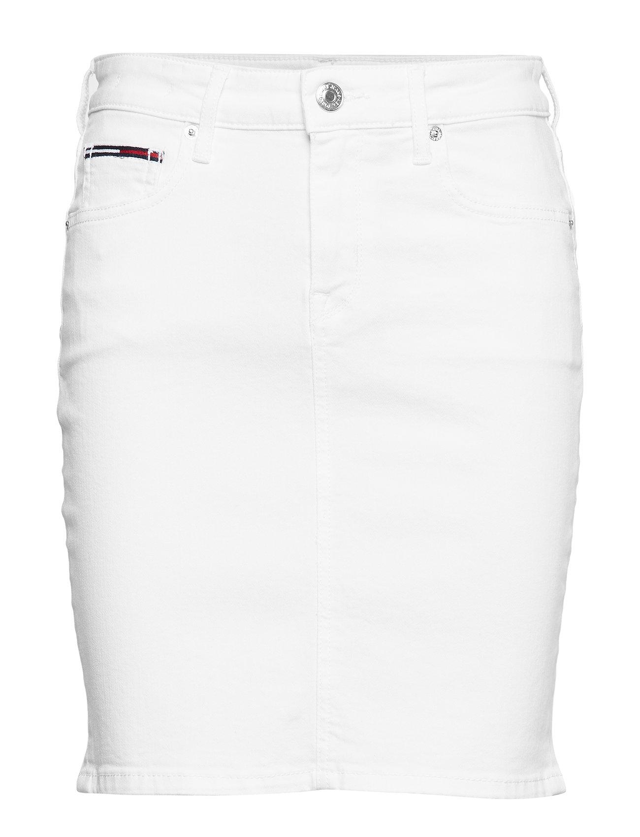 Tommy Jeans REGULAR DENIM SKIRT SNWH - SNOW WHITE STRETCH