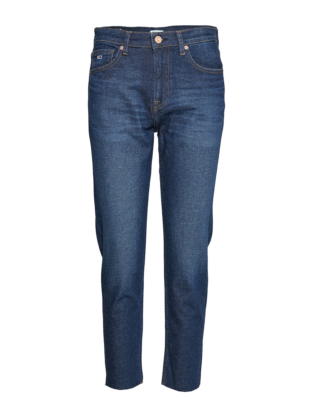 Tommy Jeans HIGH RISE SLIM IZZY CROP ACDK - ACE DK BL COM