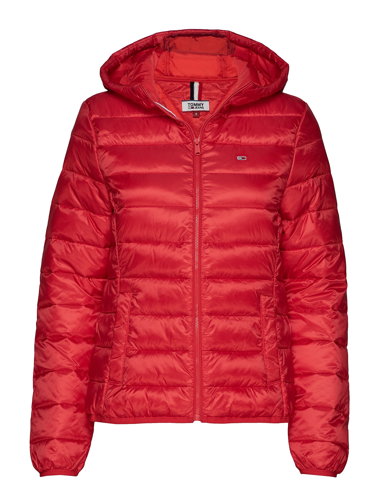 Tommy Jeans TJW QUILTED ZIP THRU - FLAME SCARLET