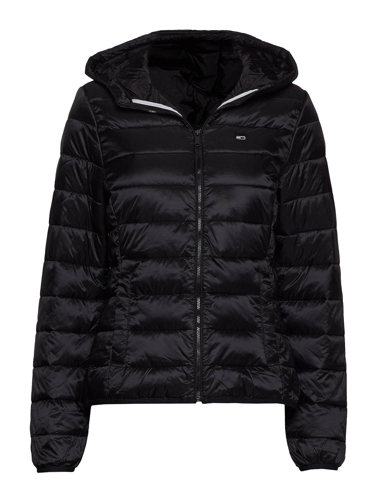 Tommy Jeans TJW QUILTED ZIP THRU - TOMMY BLACK