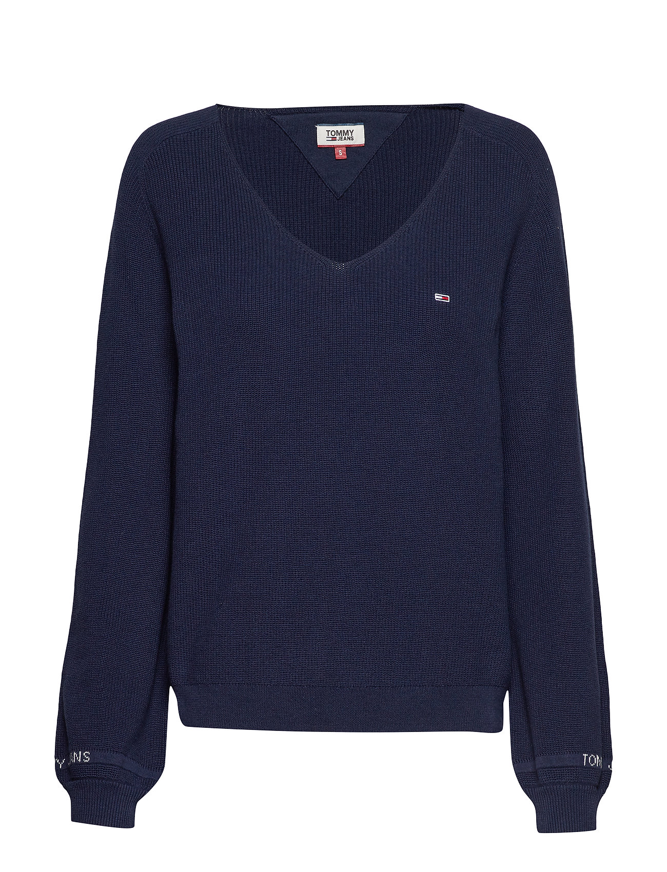 Tommy Jeans TJW SLEEVE DETAIL SW - BLACK IRIS