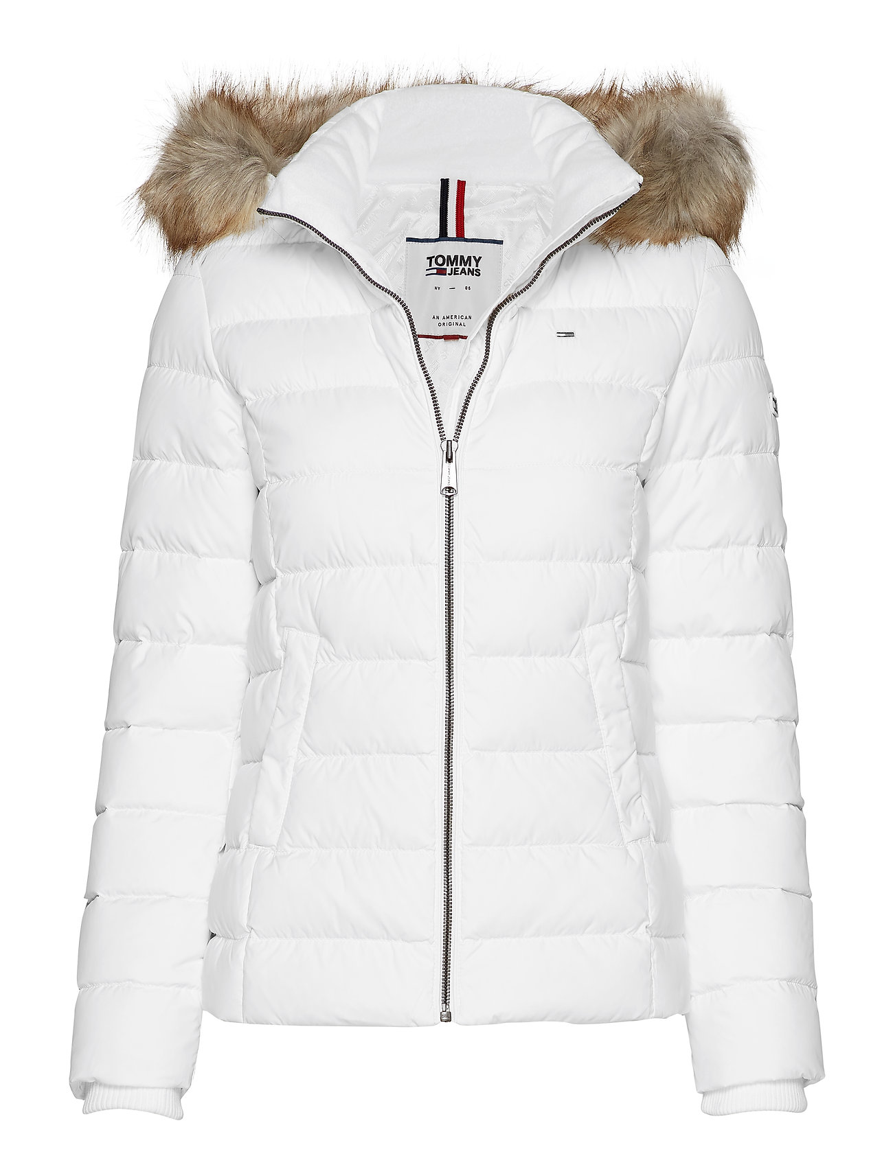 Tommy Jeans TJW ESSENTIAL HOODED - CLASSIC WHITE