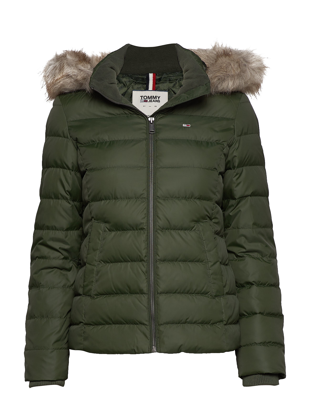 Tommy Jeans TJW ESSENTIAL HOODED - KOMBU GREEN