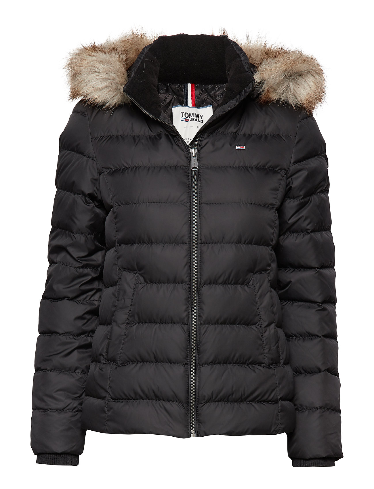 Tommy Jeans TJW ESSENTIAL HOODED - TOMMY BLACK